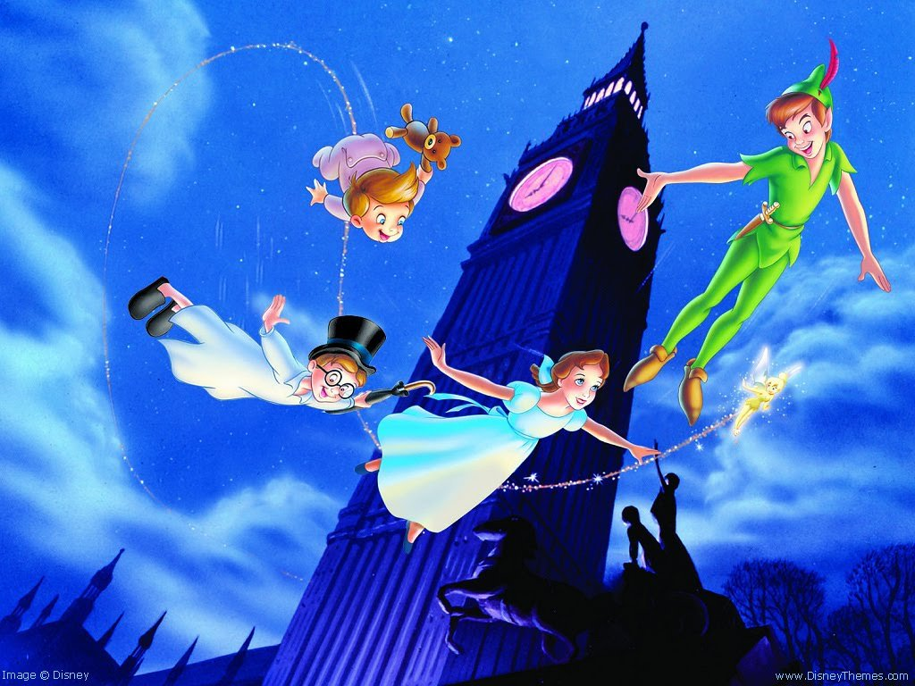 Peter Pan Wallpaper Disney Desktop Wallpaper 1024x768