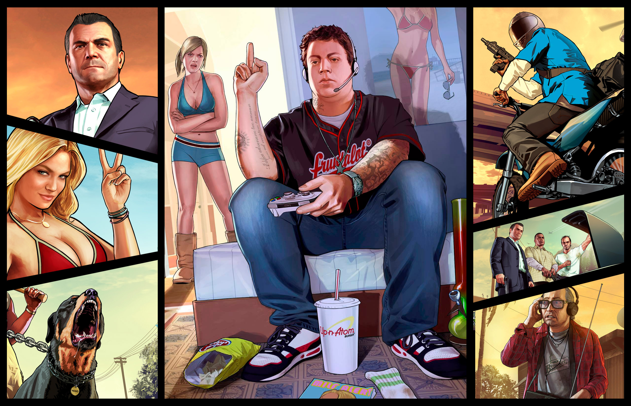 Grand Theft Auto V Wallpaper Youtube Channel Art Professional 2560x1645