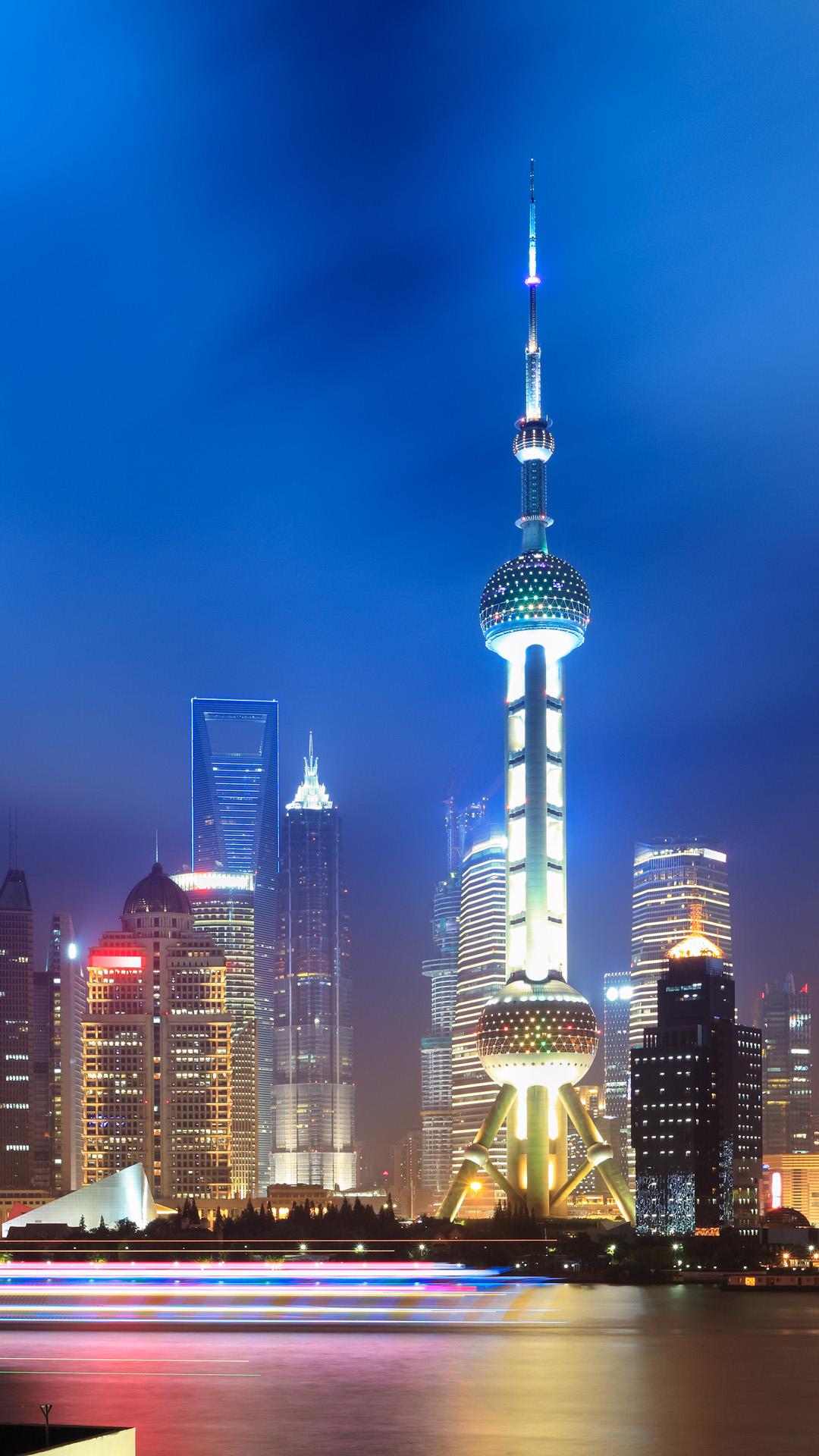 Beautiful city at night iphone 6 plus wallpaper 1080x1920