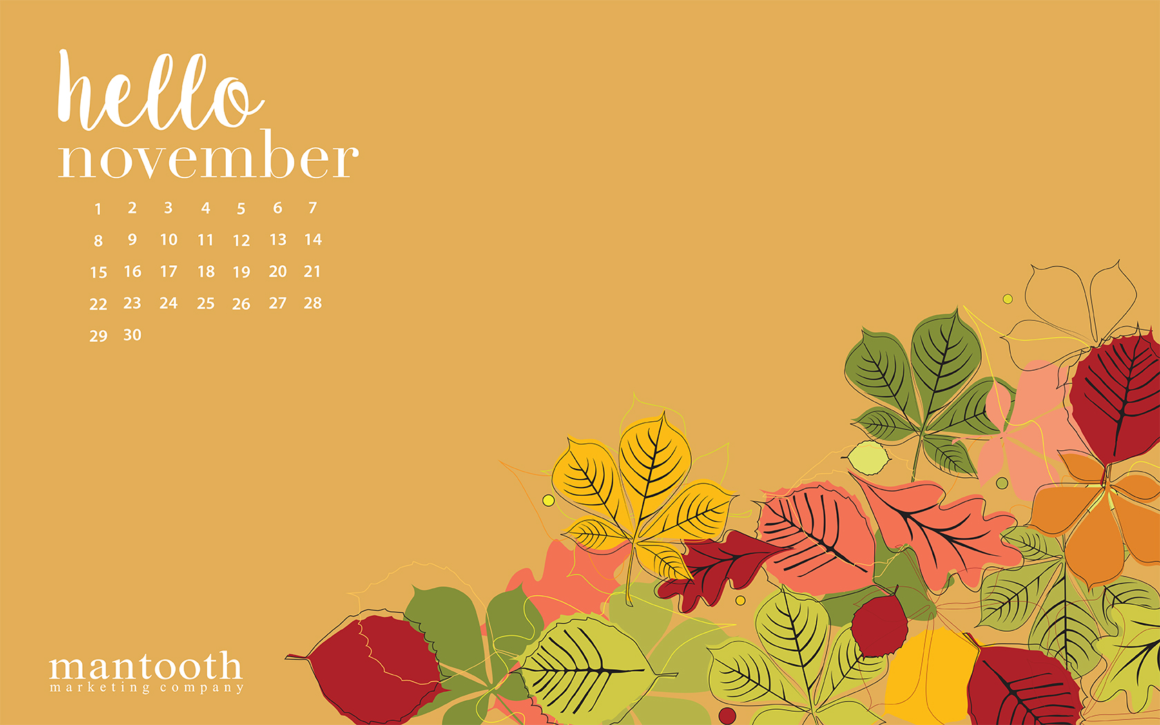 Free Desktop Calendar Wallpaper November : Free november wallpaper for desktop wallpapersafari