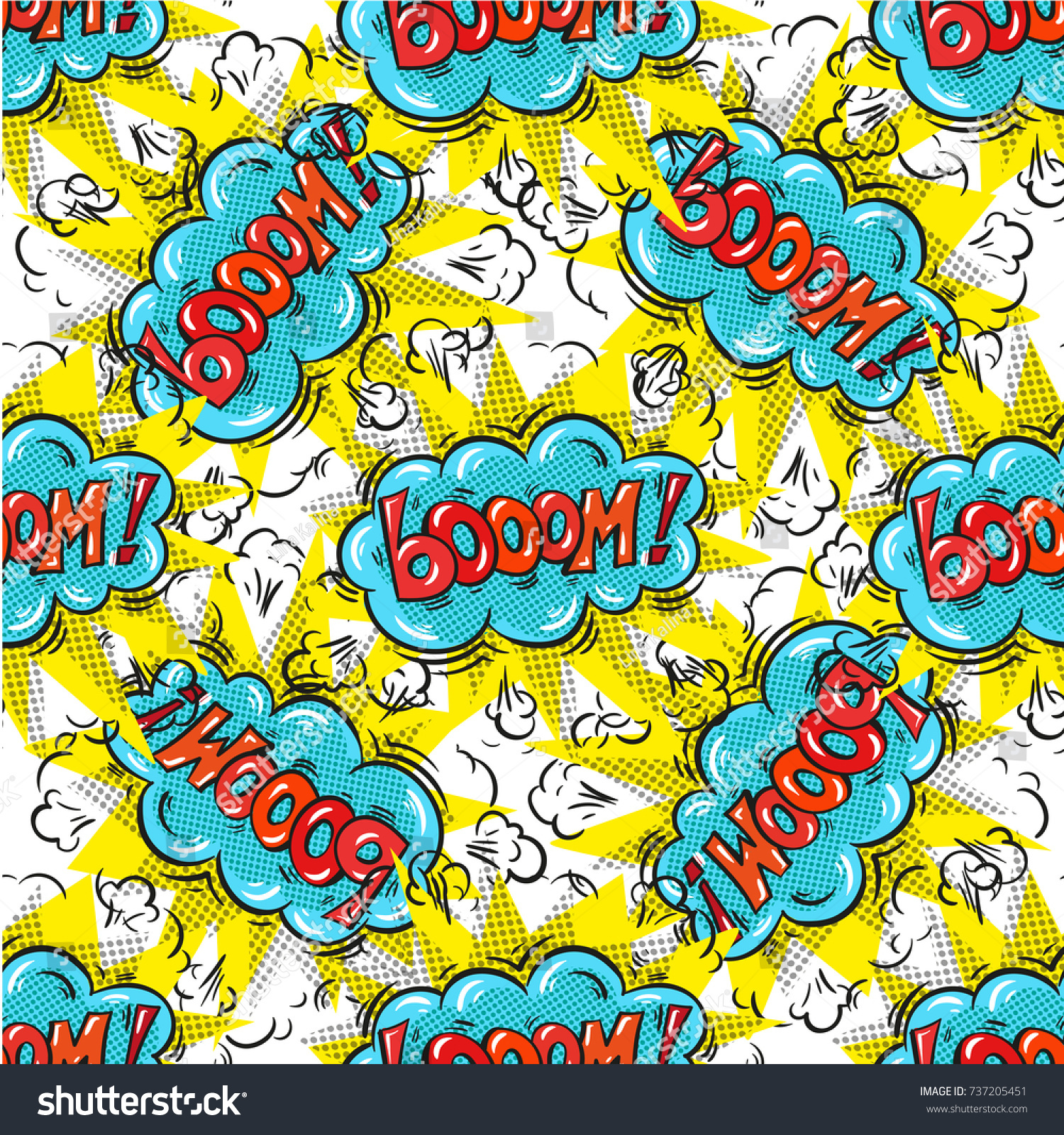Boom Background Closeout Seamless Pattern Clearance Stock Vector 1500x1600