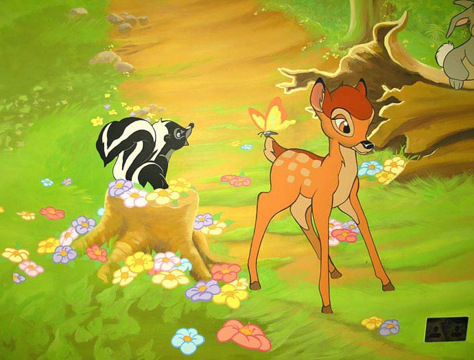 Disney World Bambi and Friends Cartoon Wallpaper 691x525