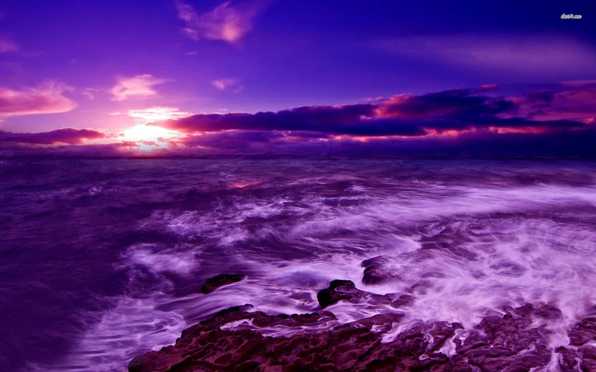 Fotos   Purple Sunset On The Beach 9615 Hd Wallpapers 1920x1200