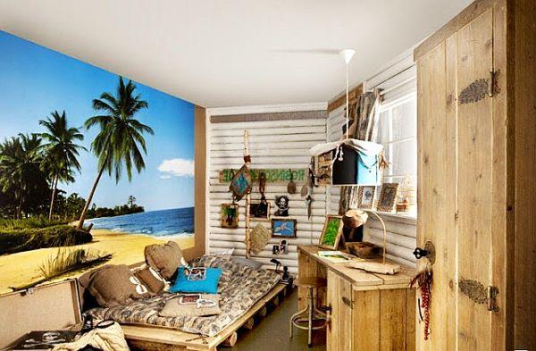 beach inspired teenage boys bedroomattic teenage boys room 600x393