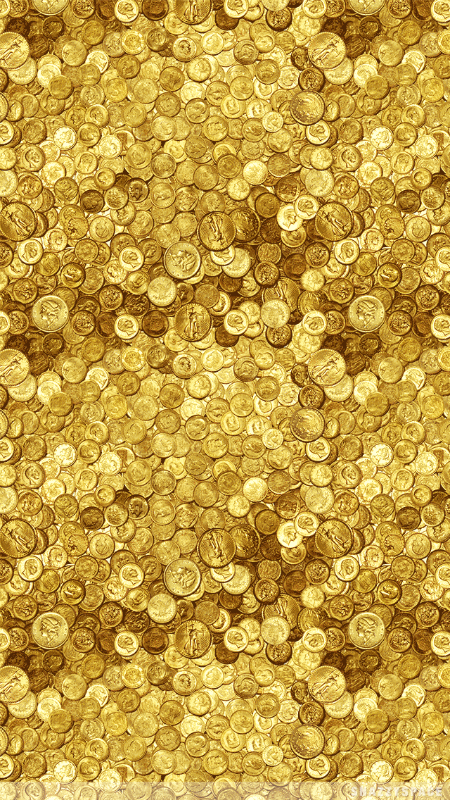 wallpaper installing this gold coins iphone wallpaper is very easy 640x1136