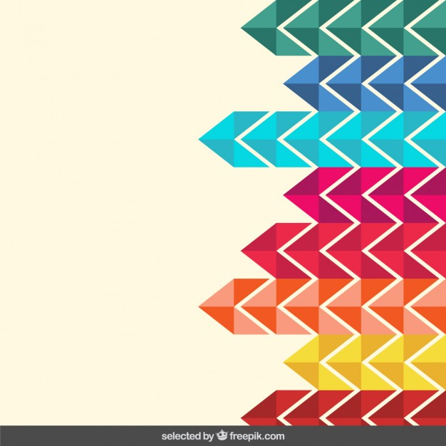 Colorful zigzag background Vector Download 626x626