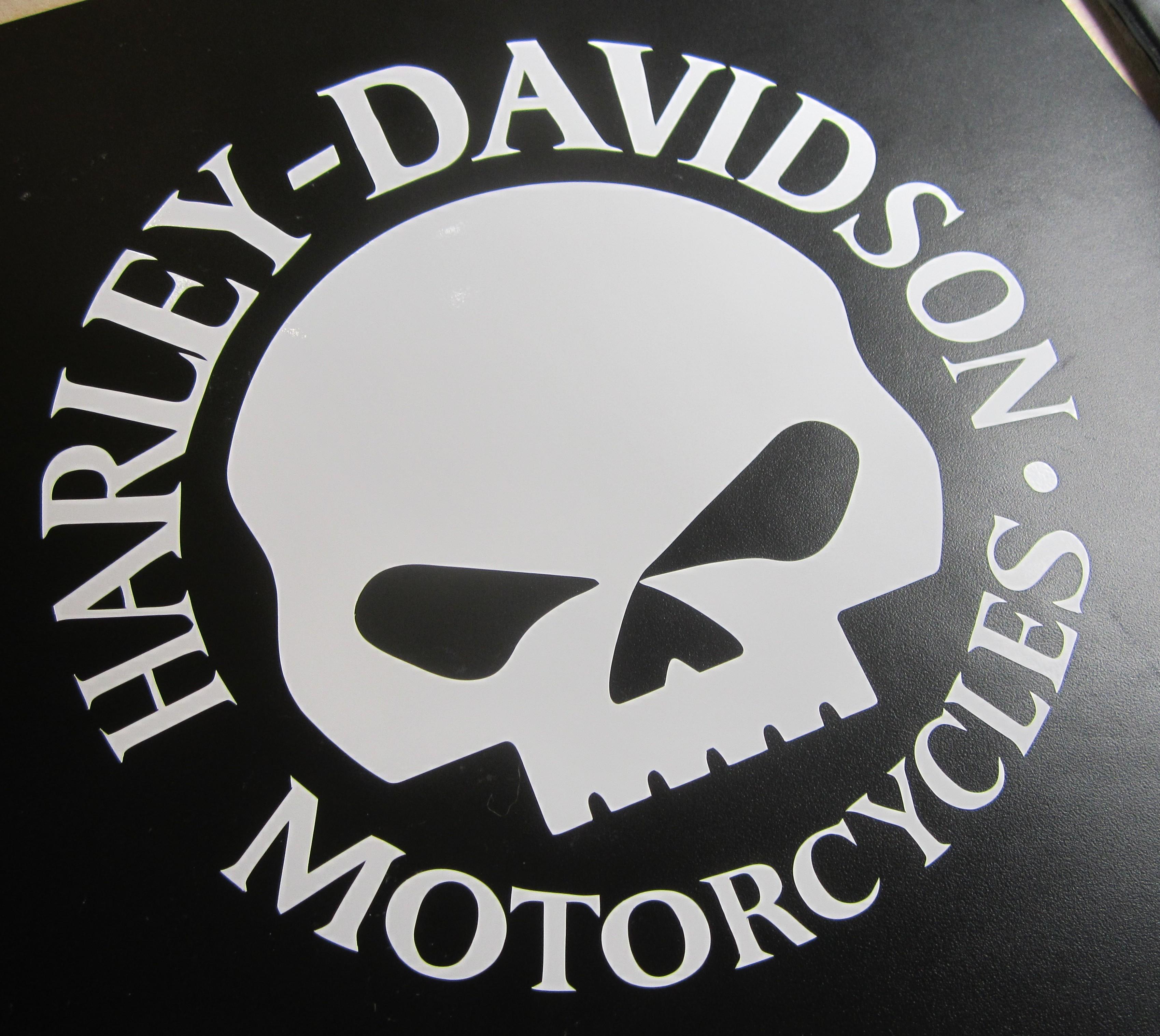 Harley skull wallpaper wallpapersafari for Wallpaper decals