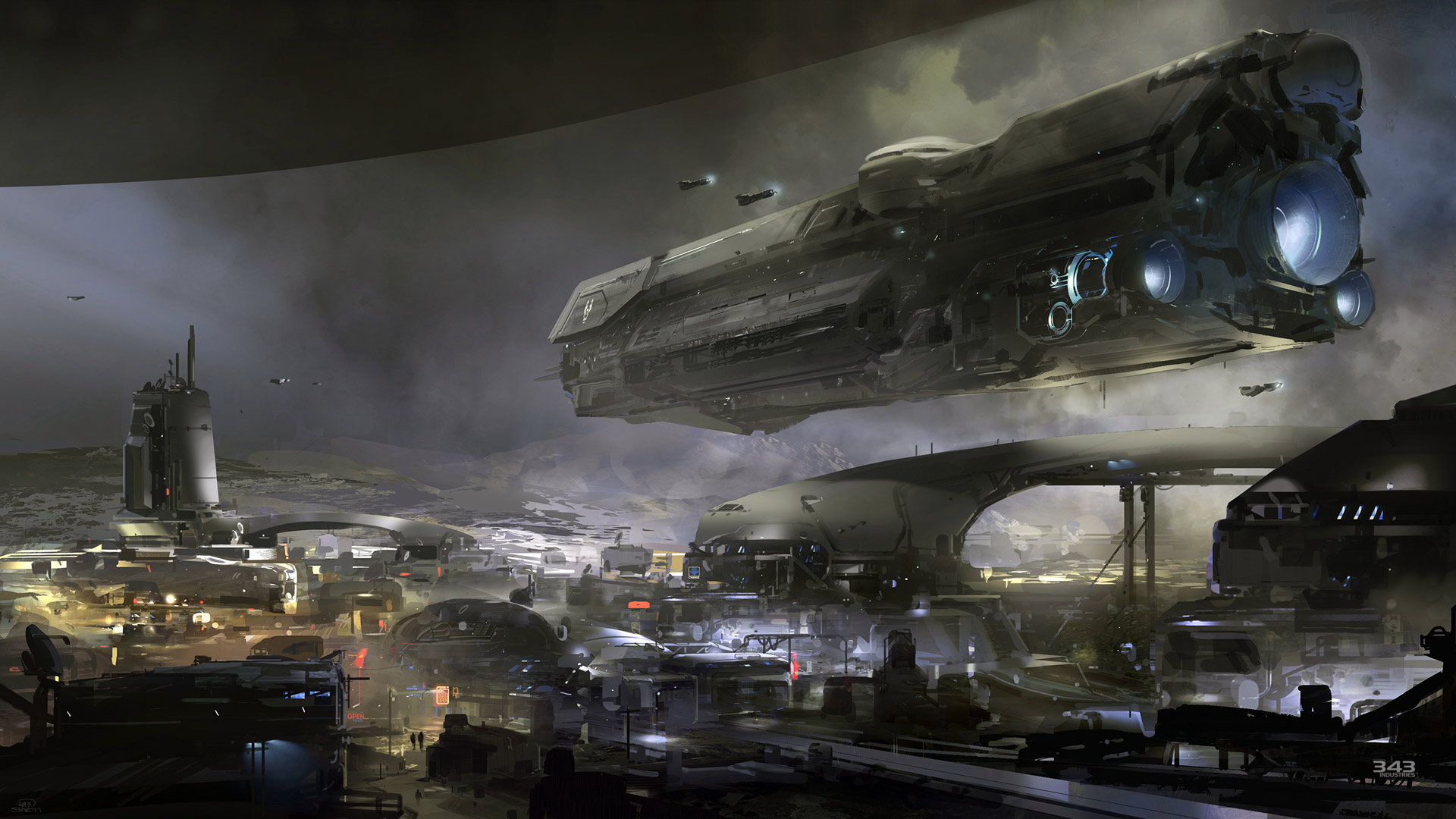 halo 5 guardians concept art game hd 1920x1080