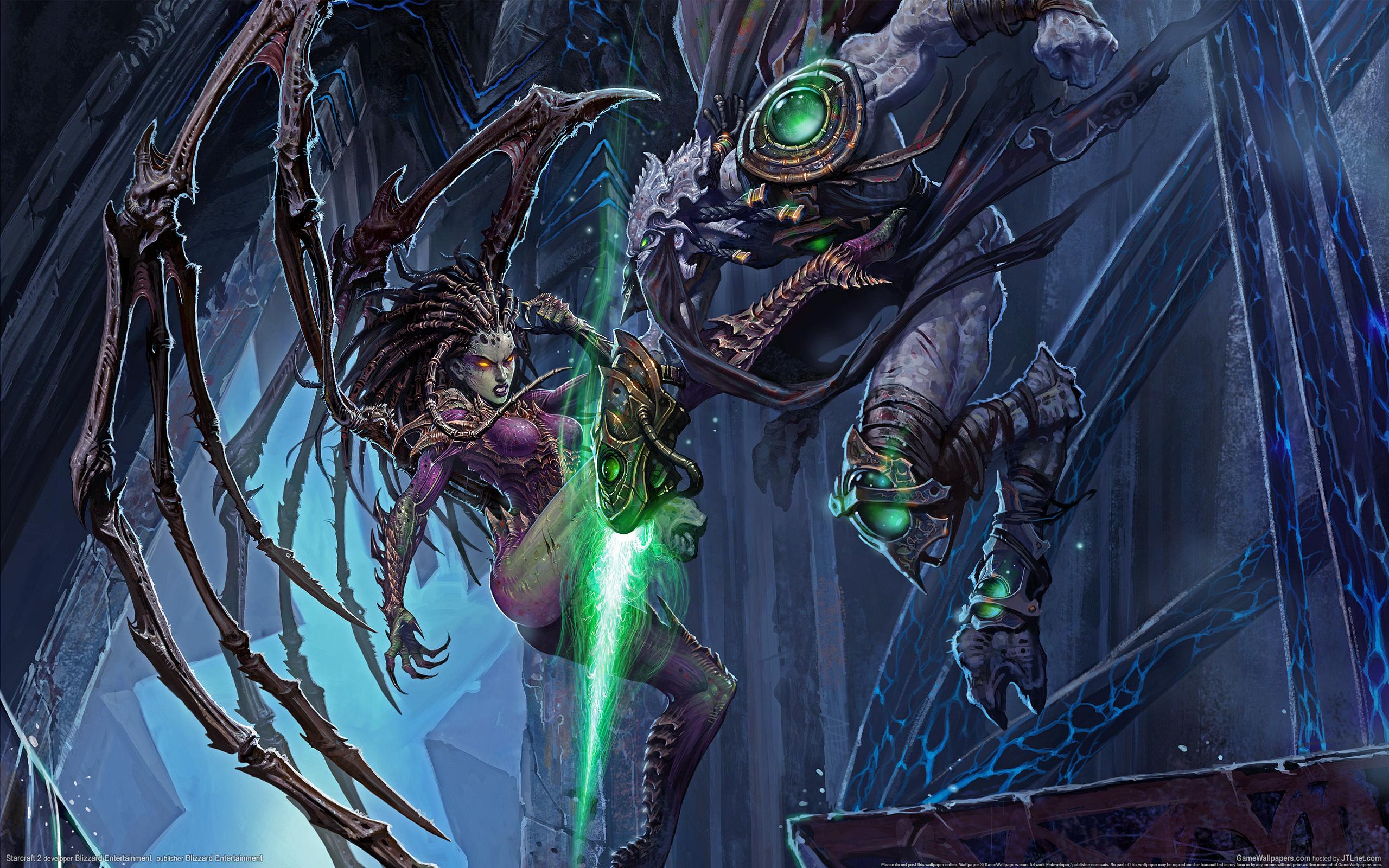 Wallpaper StarCraft StarCraft 2 Sarah Kerrigan Queen of Blades 2560x1600