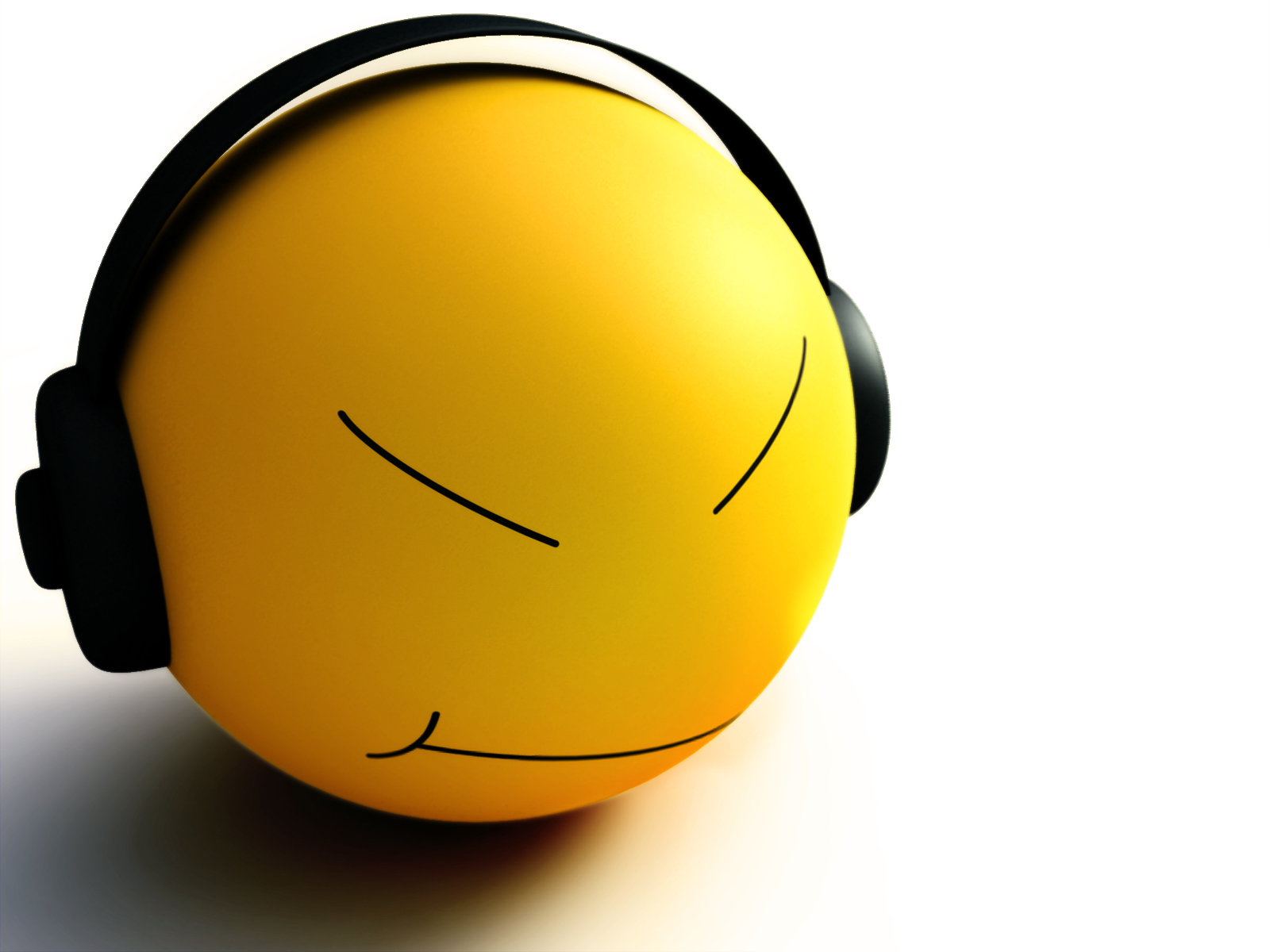 Smiley Listen Music Wallpapers HD Wallpapers 1600x1200