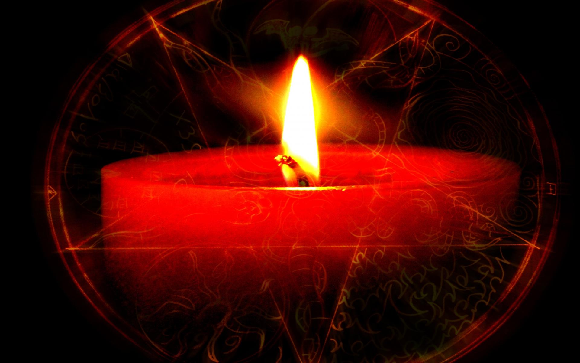 dark candles occult satan penta fire wallpaper background 1920x1200