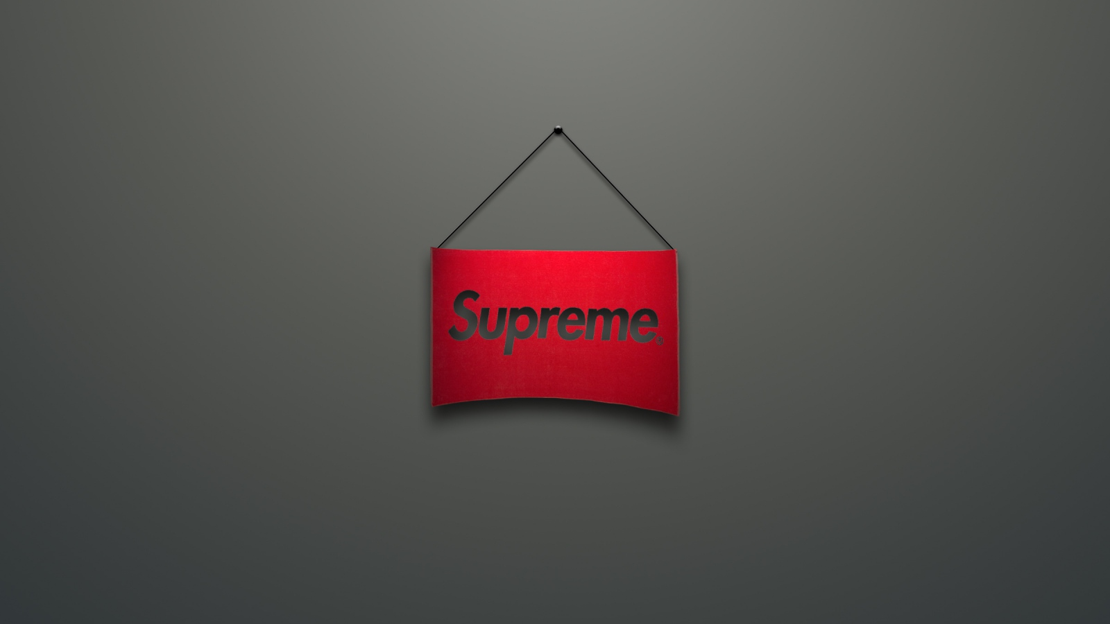 Download 1600x900 Supreme Logo Red Minimalism Wallpaper Background 1600x900