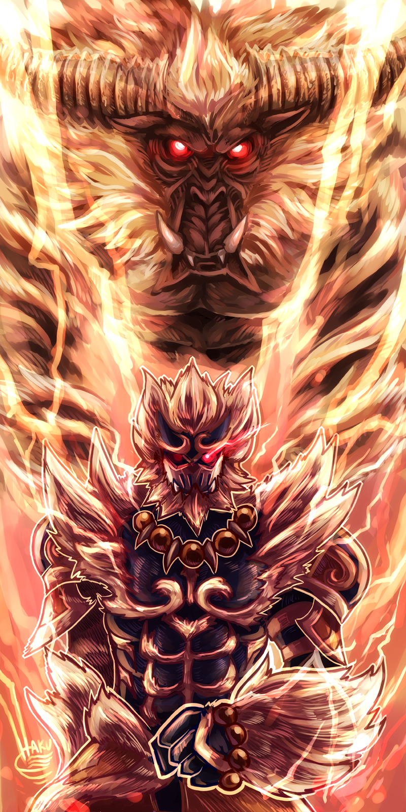 Free Download Rajang Slayer Oc Monsterhunter 800x1600 For Your