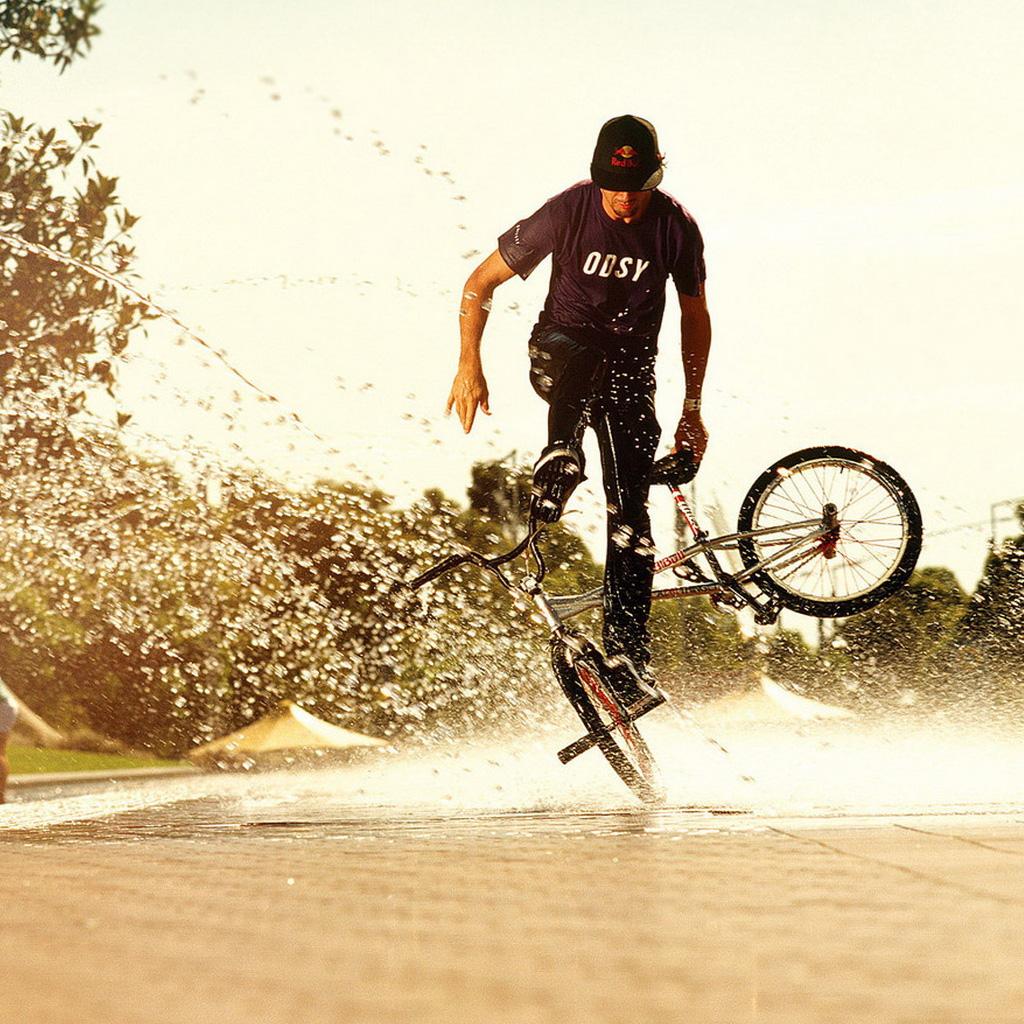 Wallpapers Bike tricks   Sports iPad iPad 2 iPad mini Wallpapers HD 1024x1024