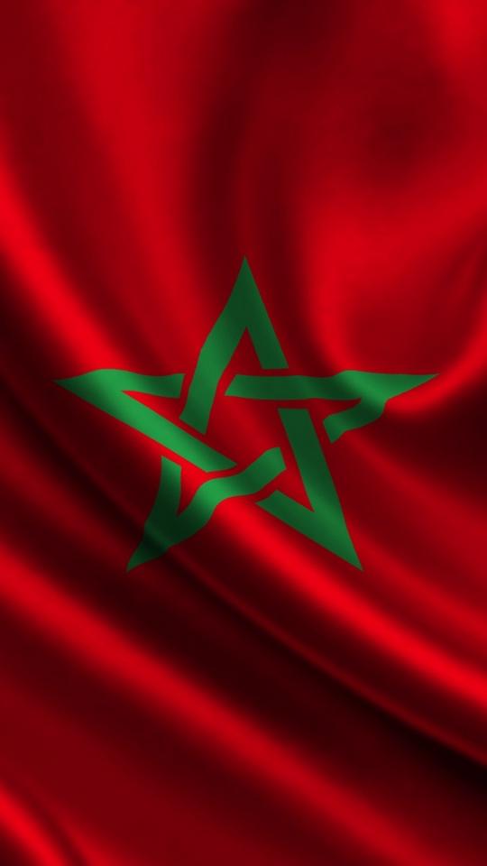 Download wallpaper 540x960 morocco atlas flag star samsung 540x960