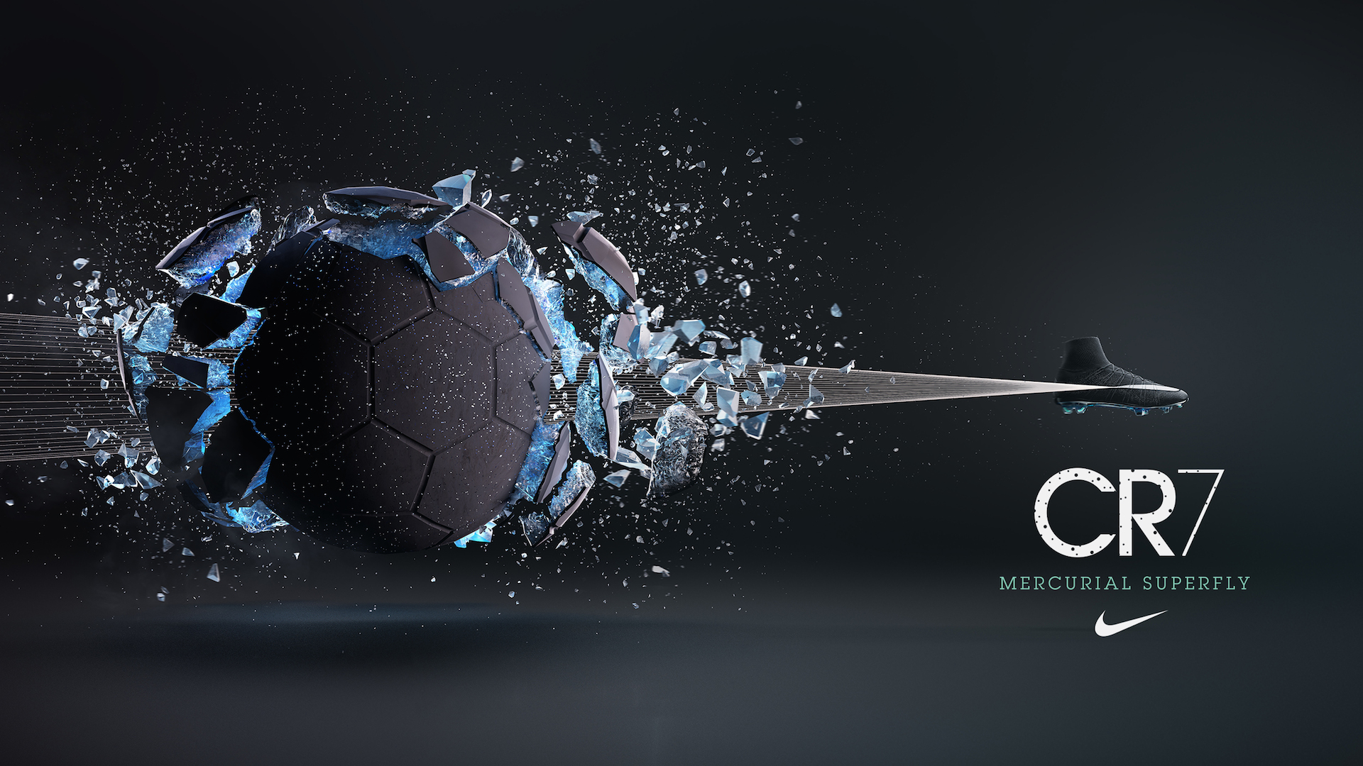 CR7 shoe campaign I was responsible for exploding the football and 1920x1080