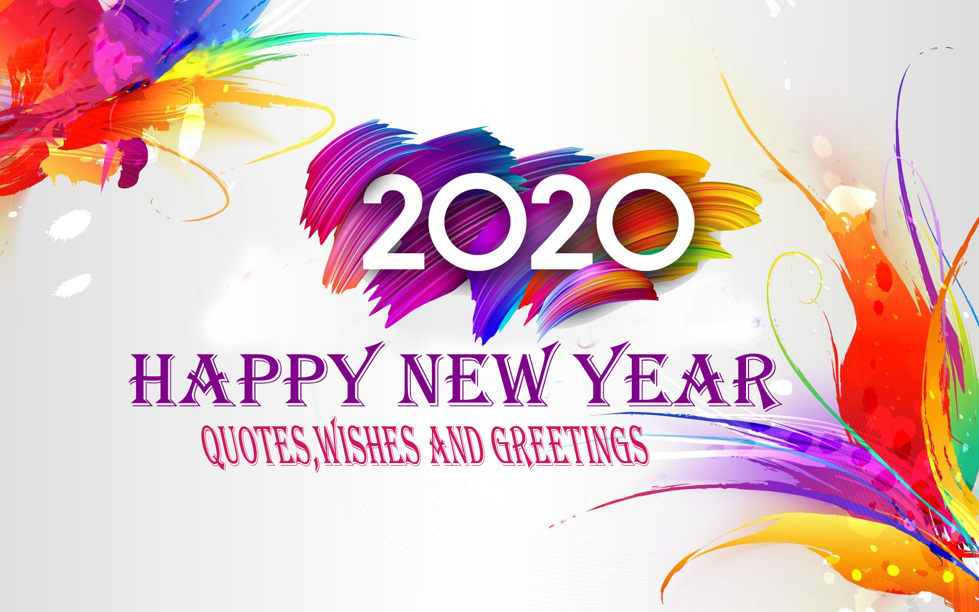 Happy New Year 2020 New Year Quotes Images Wishes Greetings 1920x1200
