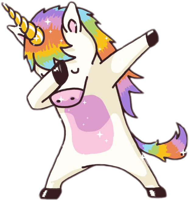 unicorn dab rainbow freetoedit   Sticker by Bla bla 621x661