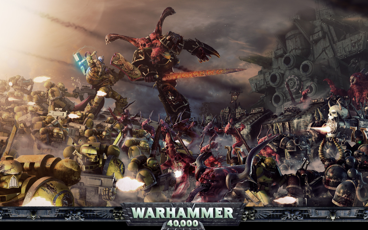Warhammer 40k Space Marines Chaos Bolter Guns wallpapers 1280800 1280x800