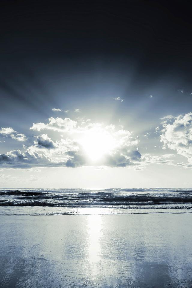 Ocean Sunrise iPhone Wallpaper 640x960