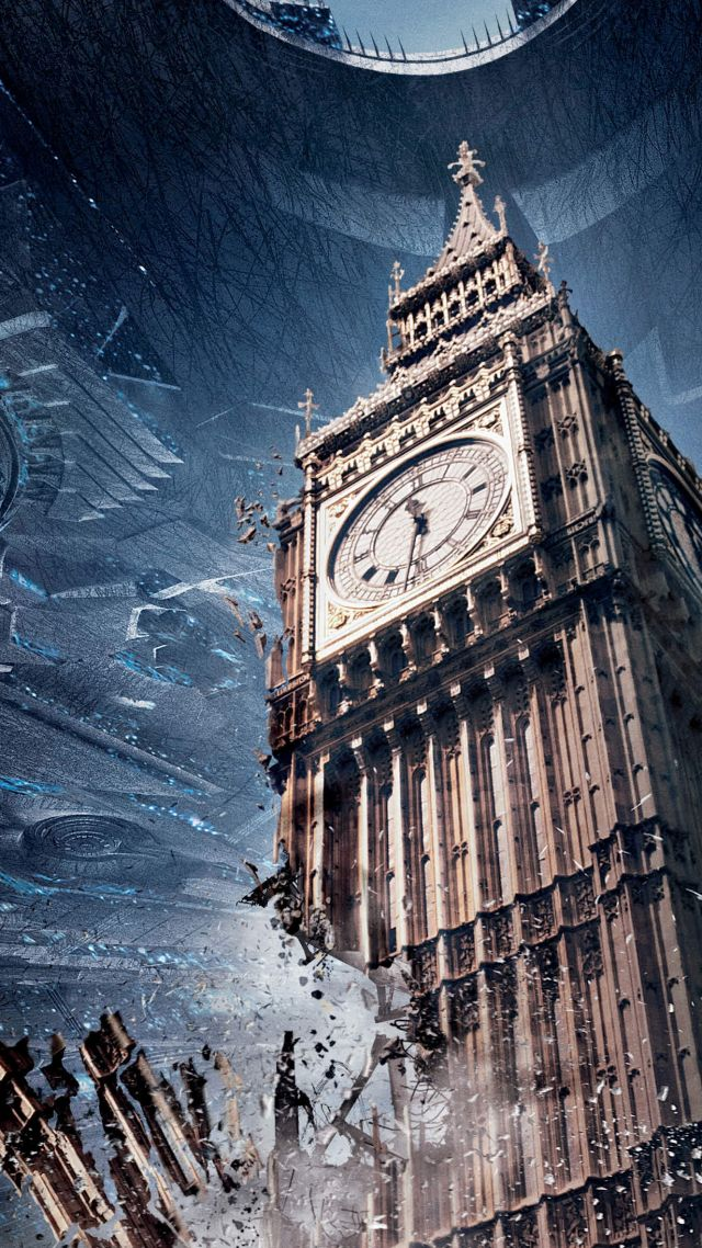 Wallpaper Independence Day Resurgence Big Ben best movies 2016 640x1138