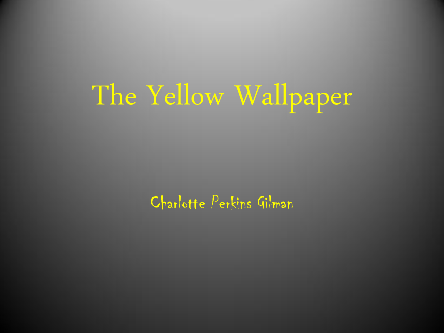 the ìyellow wallpaperî allegory essay Gilman's gothic allegory: rage and redemption in the yellow wallpaper johnson, greg // studies in short fictionfall89, vol 26 issue 4, p521 discusses the 19th-century short story 'the yellow wallpaper,' by charlotte perkins gilman.