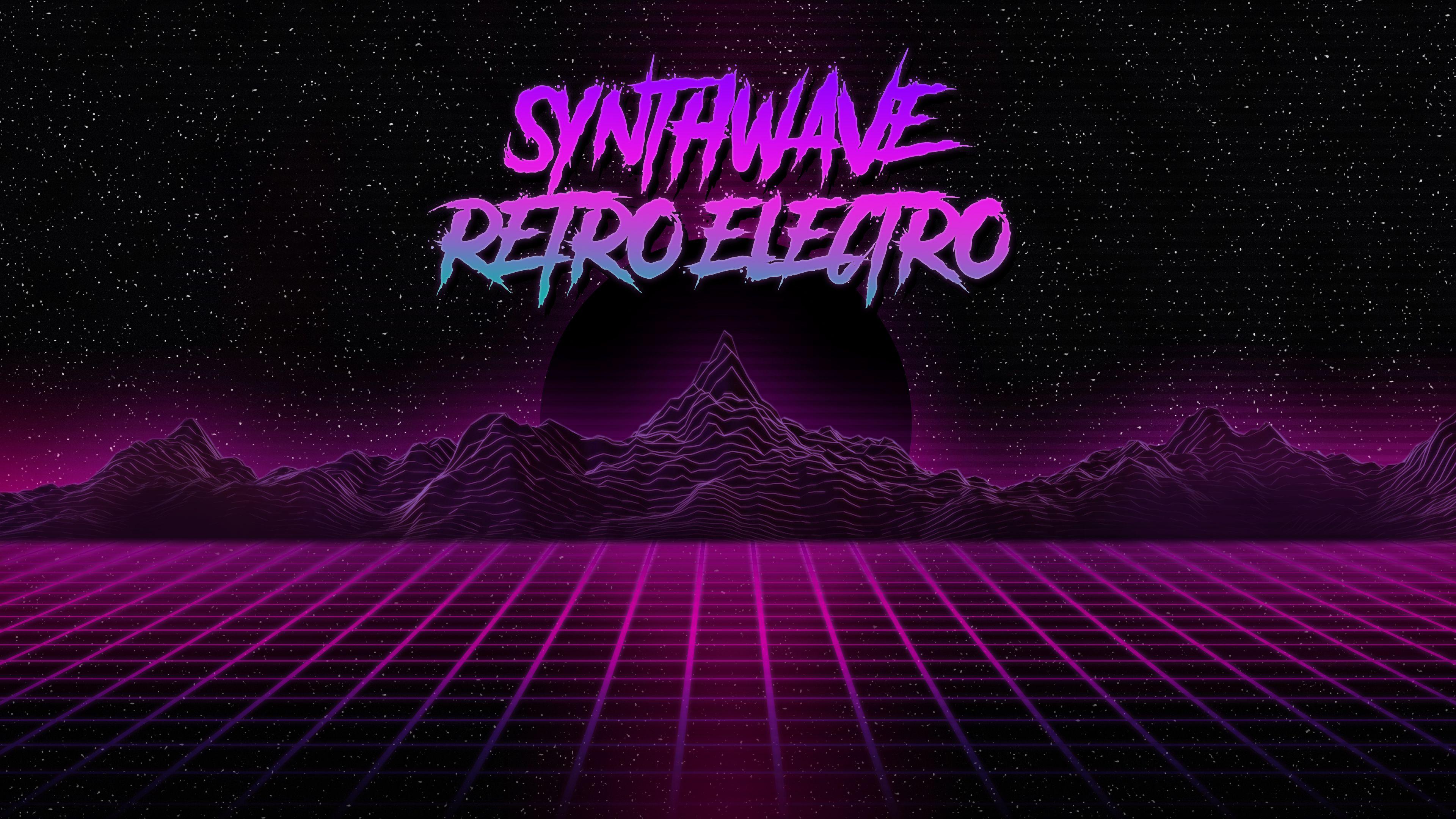 Synthwave Retro Electro Wallpaper [3840x2160] via Classy Bro 3840x2160