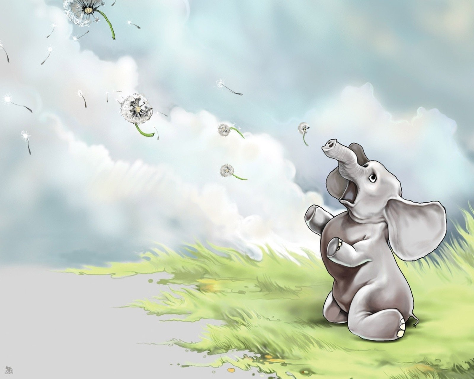 cartoon elephant wallpaper - photo #18