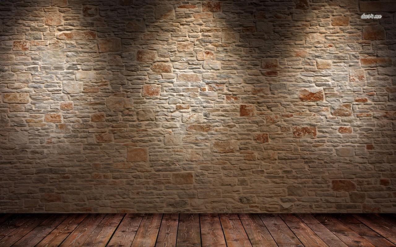 Brick wall and wood floor wallpaper   Abstract wallpapers   14567 1280x800