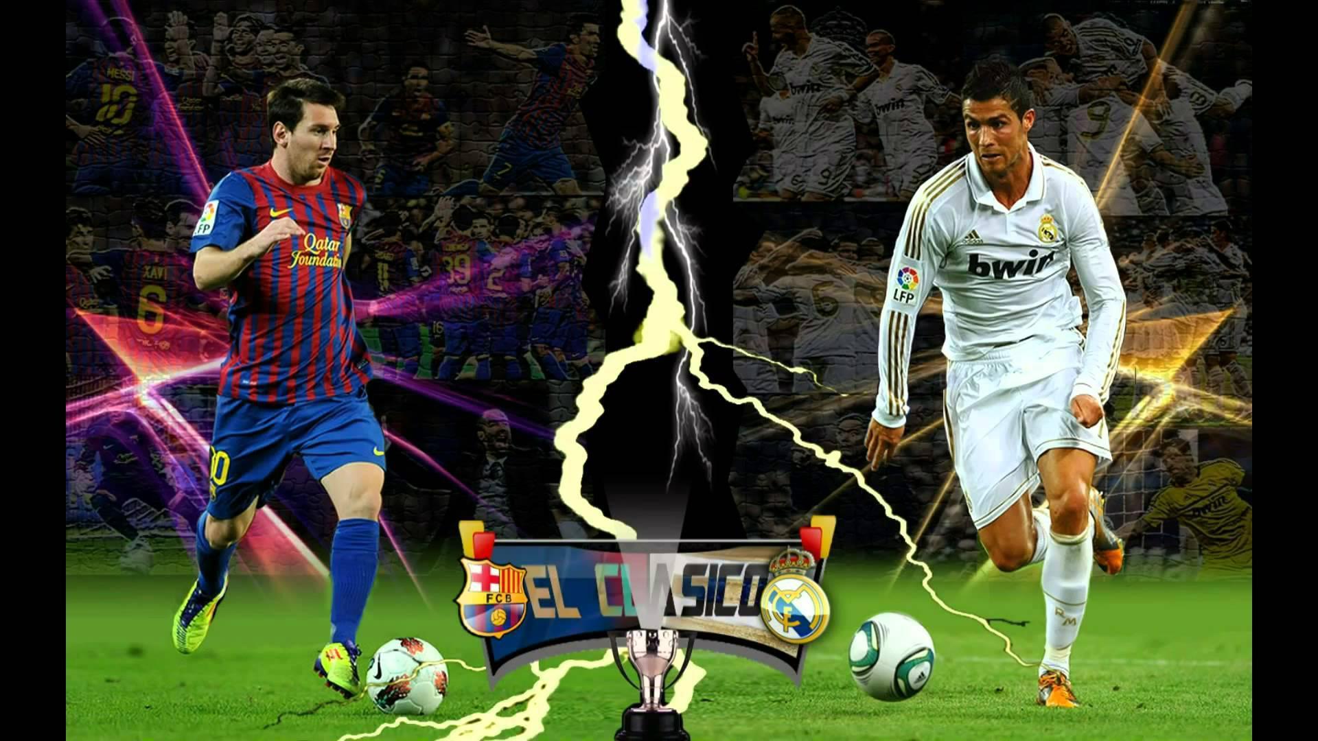 Cristiano Ronaldo vs Lionel Messi   El Clasico HD desktop wallpaper 1920x1080