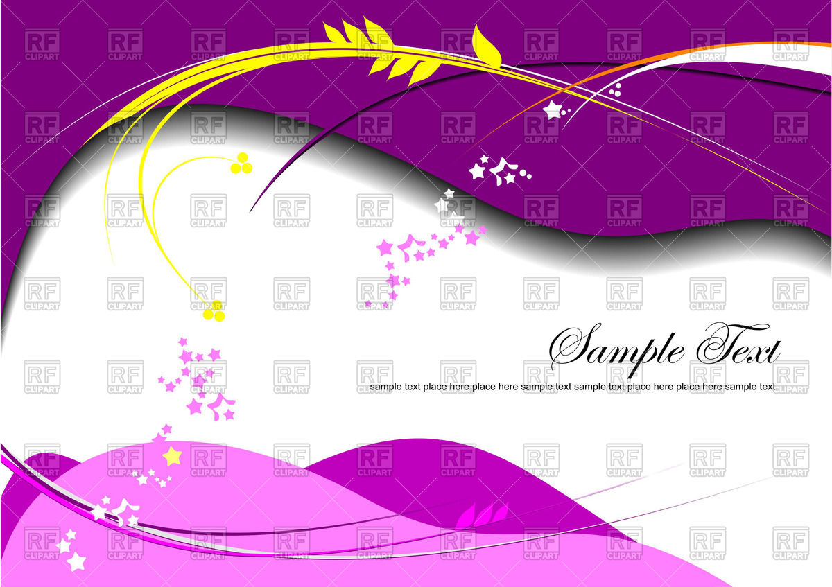 Background with violet and pink waves and place for text Vector 1200x847