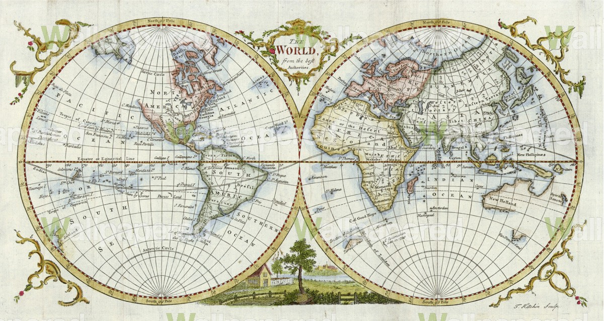 46 Antique World Map Wallpaper On Wallpapersafari