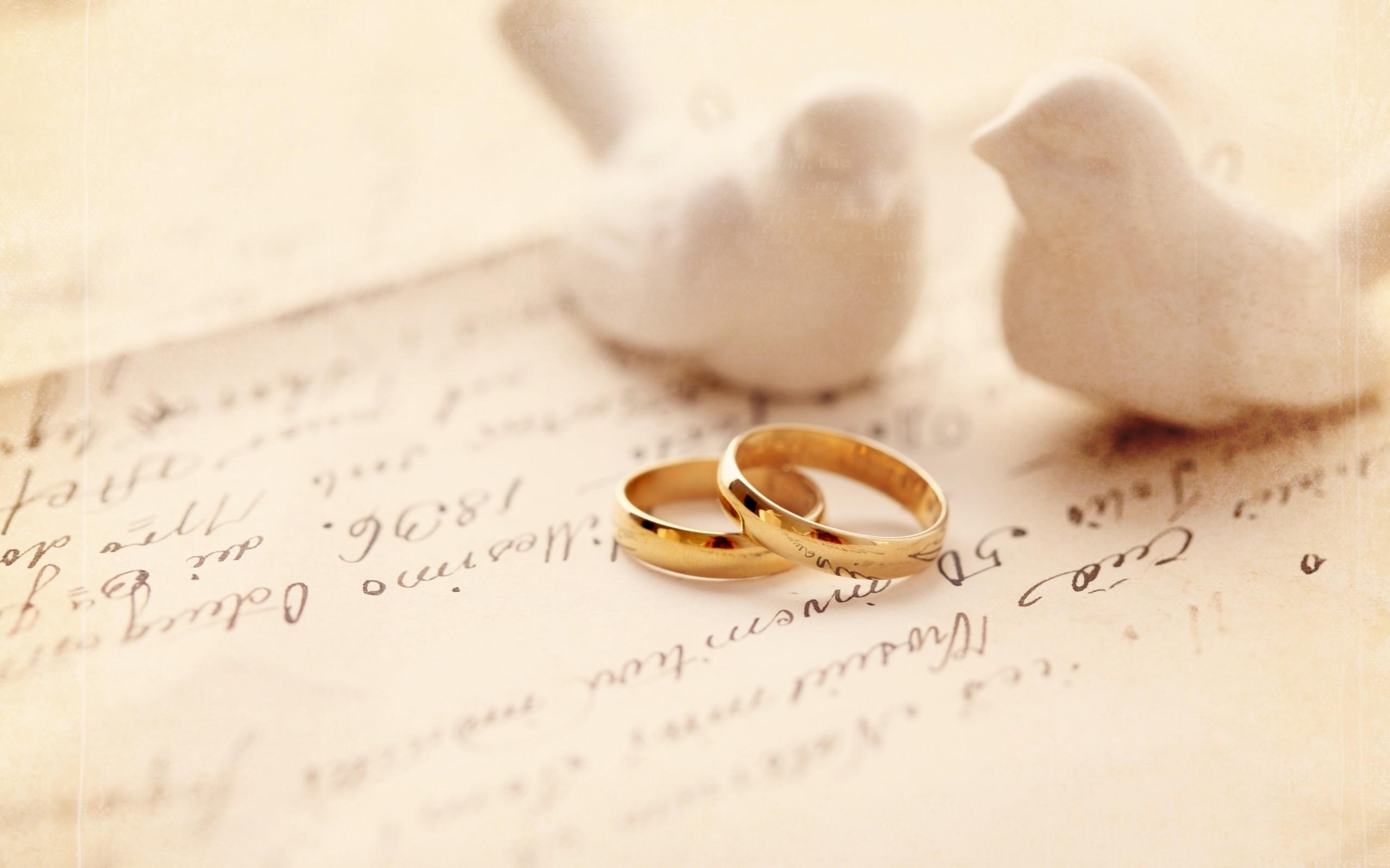 Gold Ring Love Wedding Wallpaper PC 7929 Wallpaper High Resolution 2560x1600