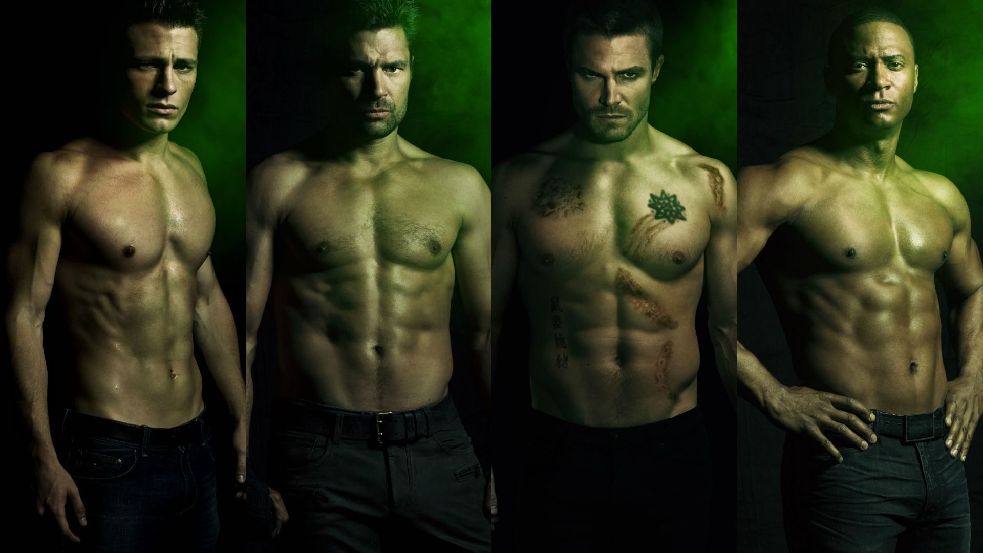 Arrow TV Series Actors Abs Wallpaper 1920x1080