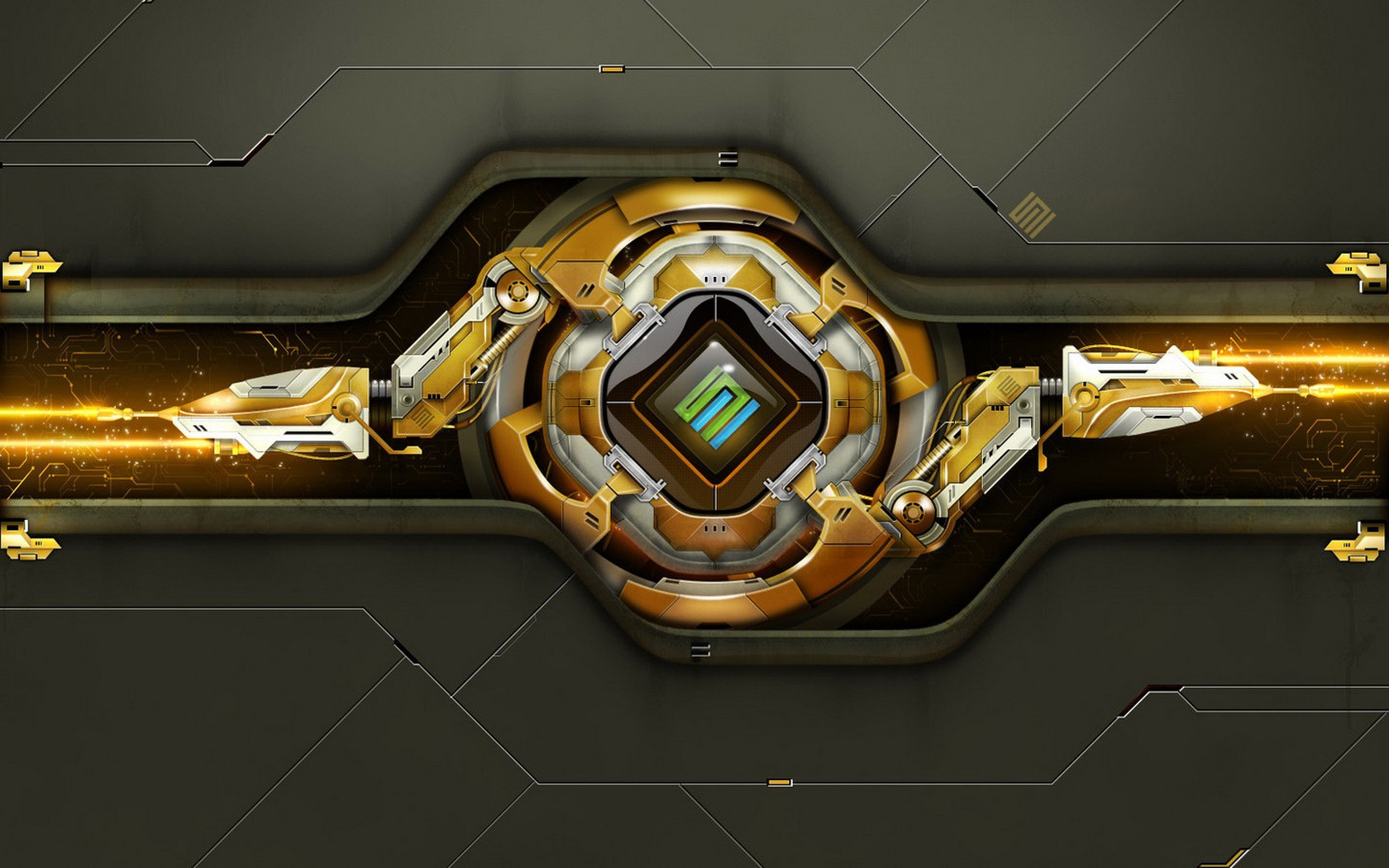 Abstract Gold Wallpaper 1680x1050 Abstract Gold 3D Graphics 1680x1050
