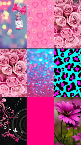 Pink floral Lovely Red Heart Images for Girls Home Lock Screen 320x568