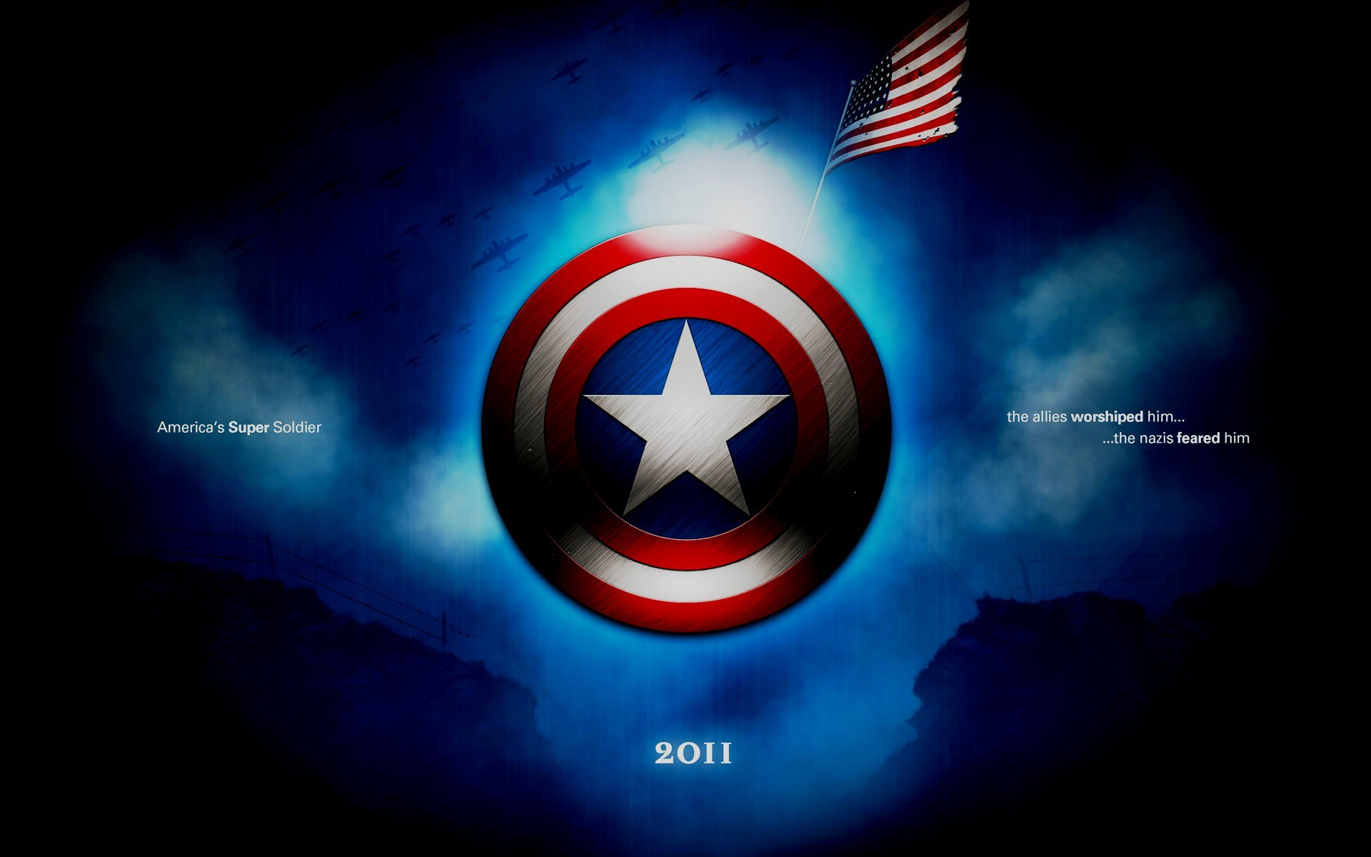 Superhero Captain America Wallpaper Captain America Wallpaper Logo 1920x1200