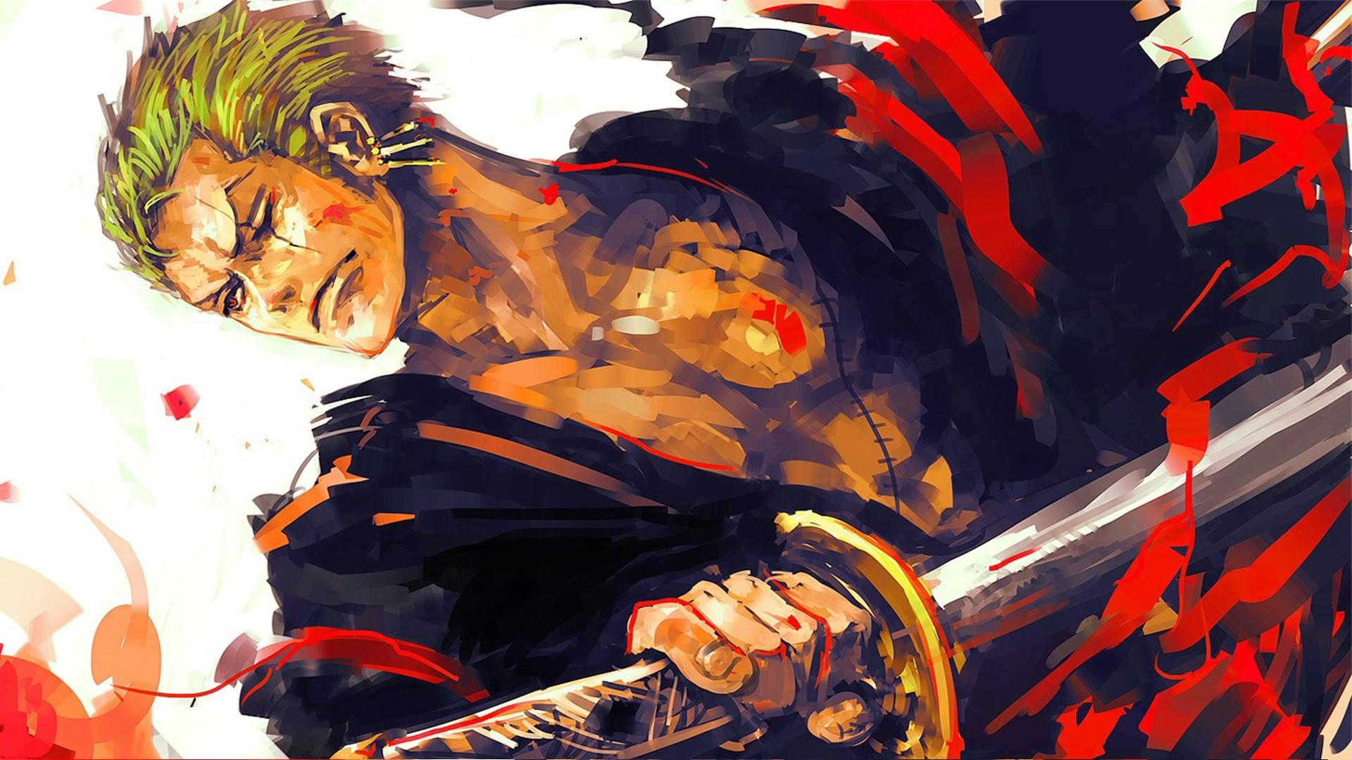 Roronoa Zoro One Piece Anime 2t Wallpaper HD 1920x1080