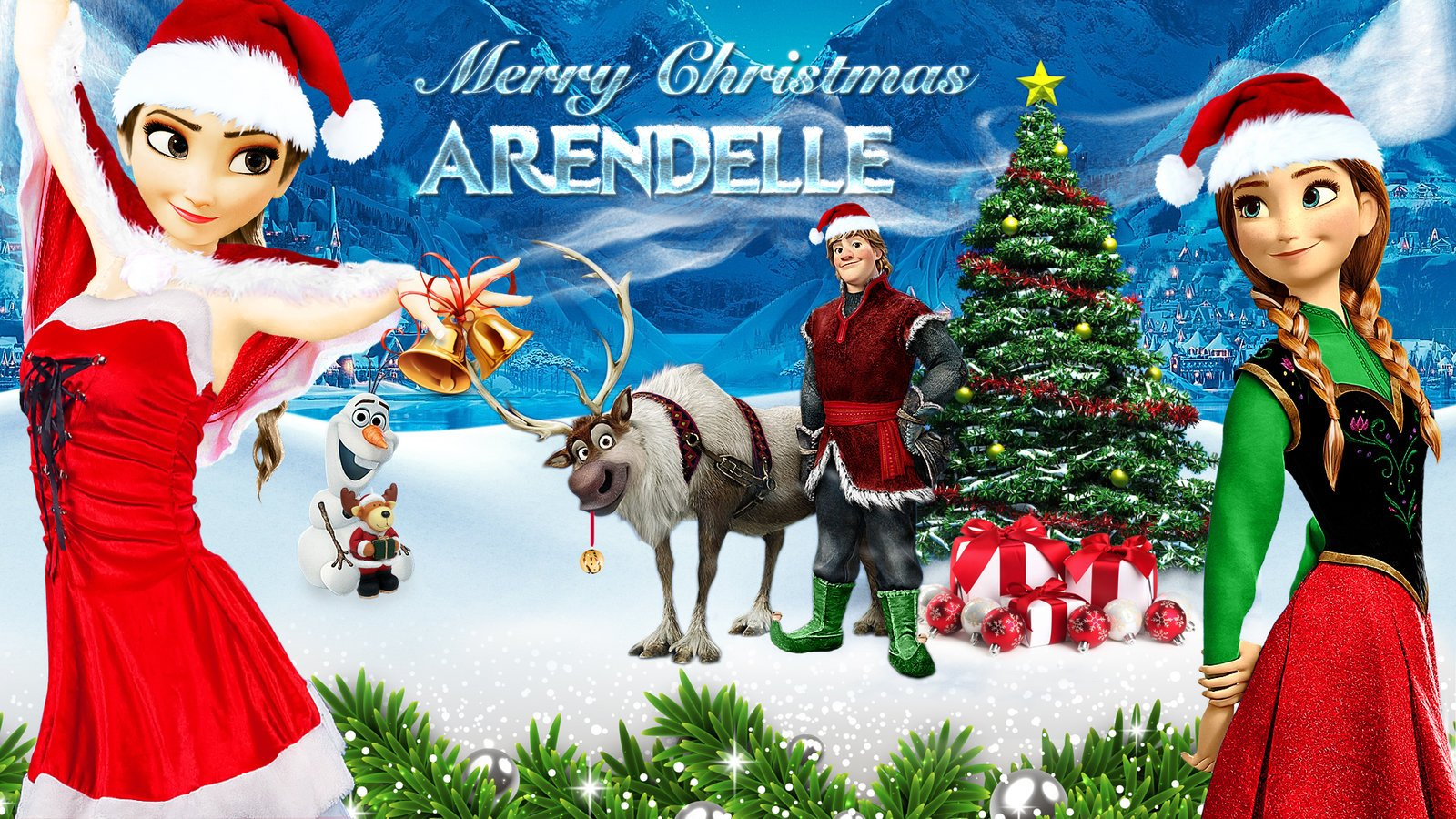 Frozen   1920x1080 Merry Christmas Arendelle by CoGraphiC on 1600x900