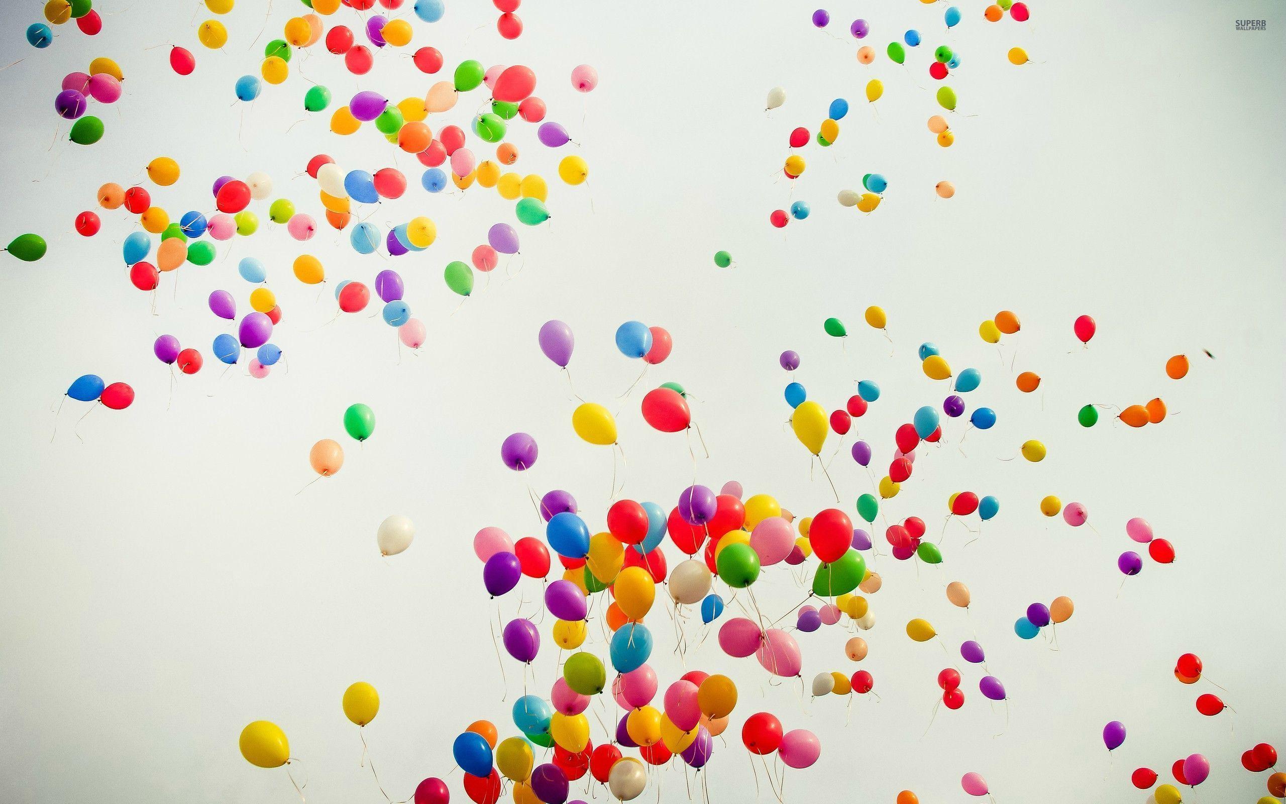 Colorful Balloons HD Desktop Mobile Wallpaper Background 2560x1600