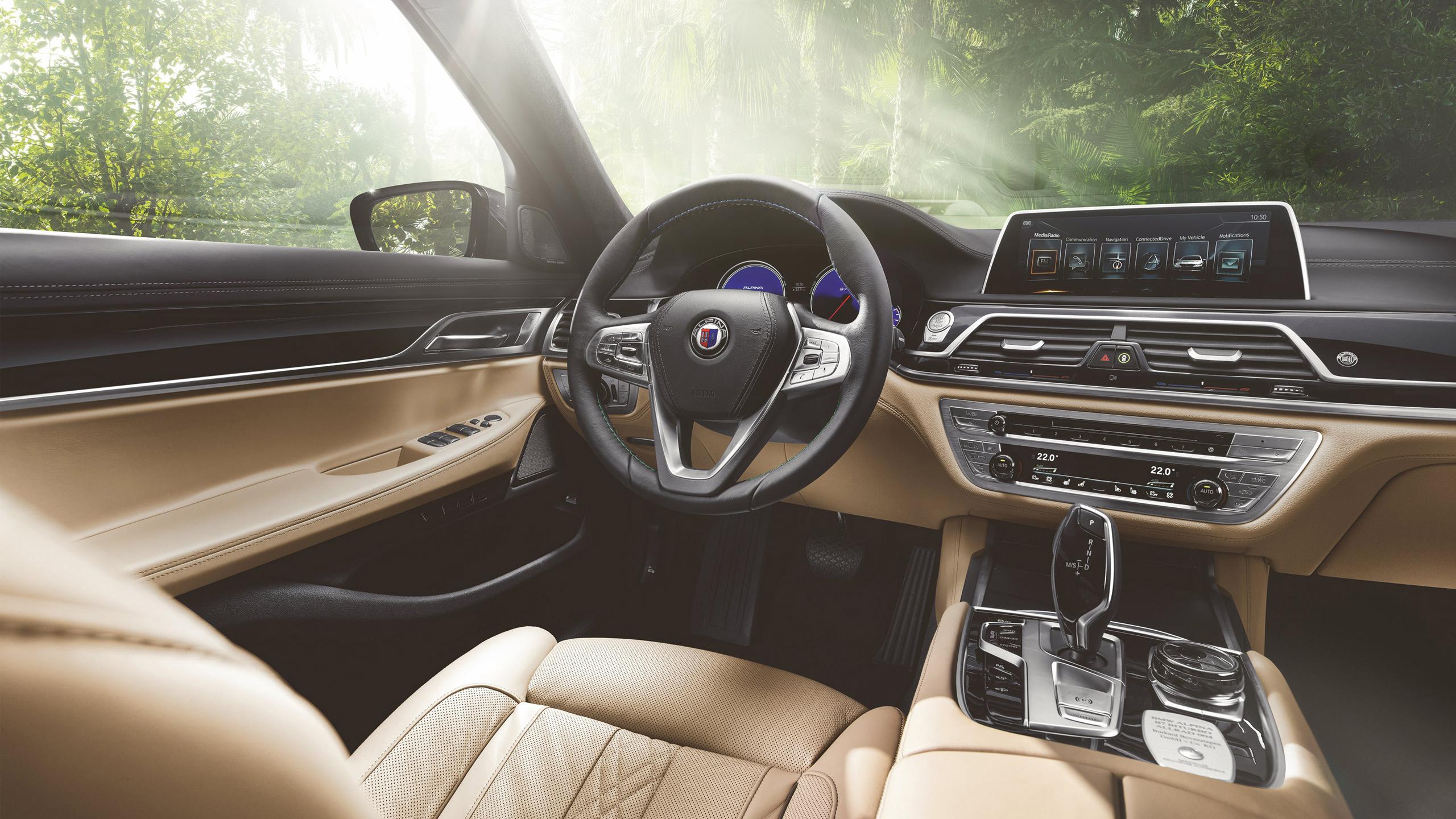 2016 BMW Alpina B7 Bi Turbo Sedan Interior Wallpaper HD Car 2560x1440