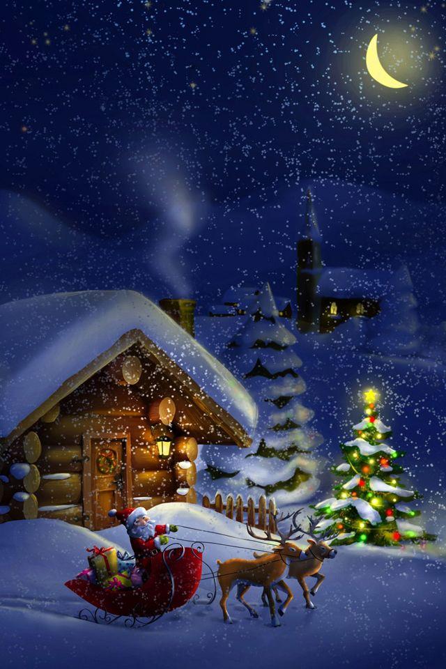 Santa North Pole Wallpaper Christmas Wallpaper 640x960