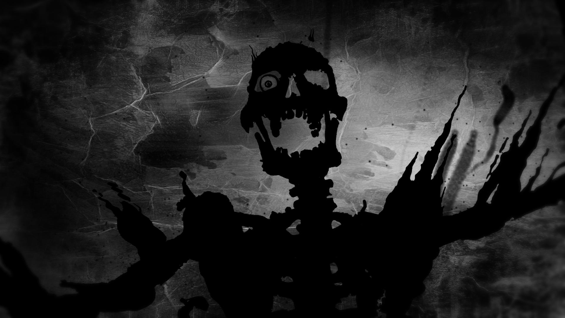 Halloween skeleton wallpaper wallpapersafari - Scary skull backgrounds ...