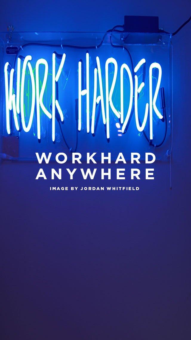 Work Hard AnywhereWhite Stairs Wallpaper 640x1136