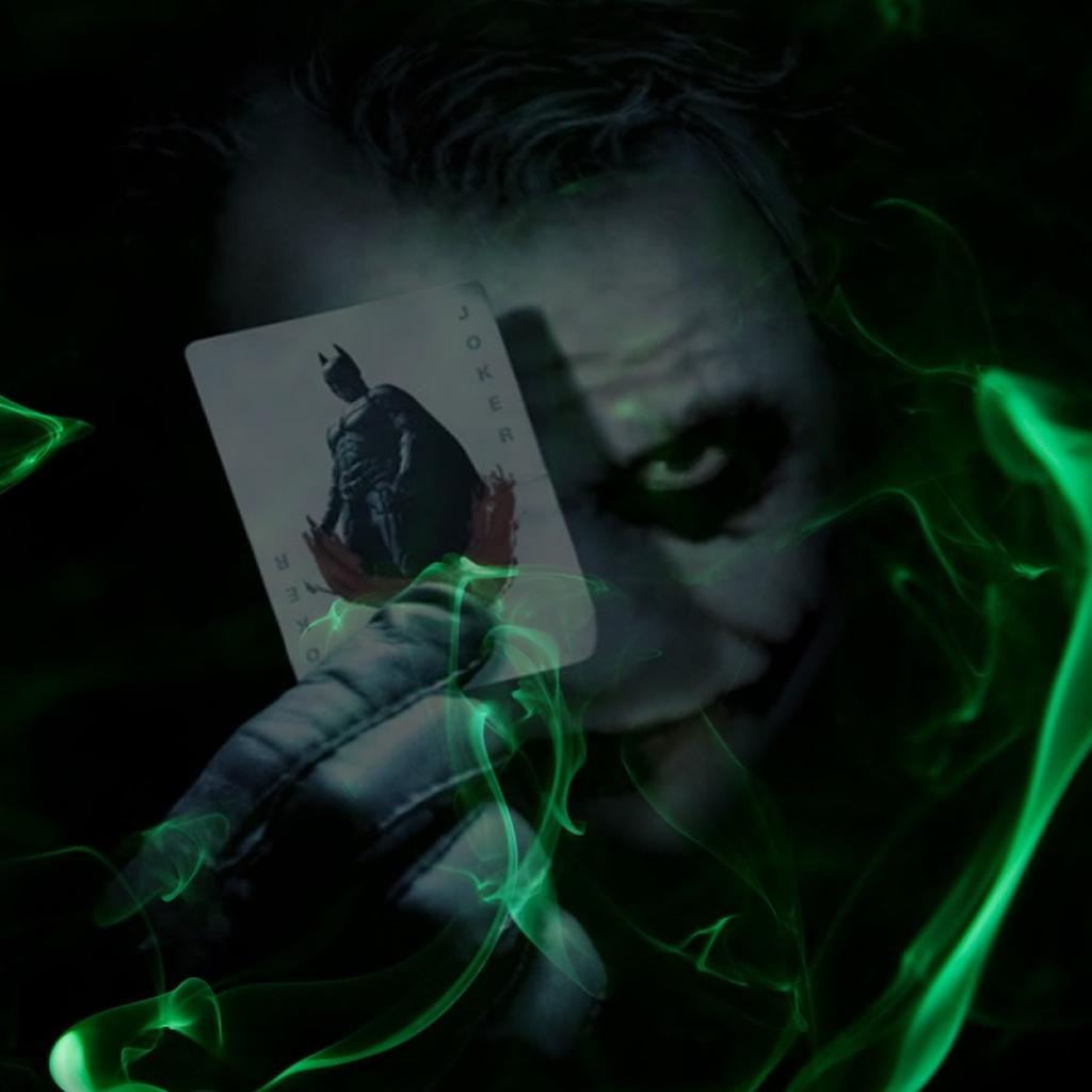 Joker Plays Batman Poker iPad Wallpapers Download 1024x1024