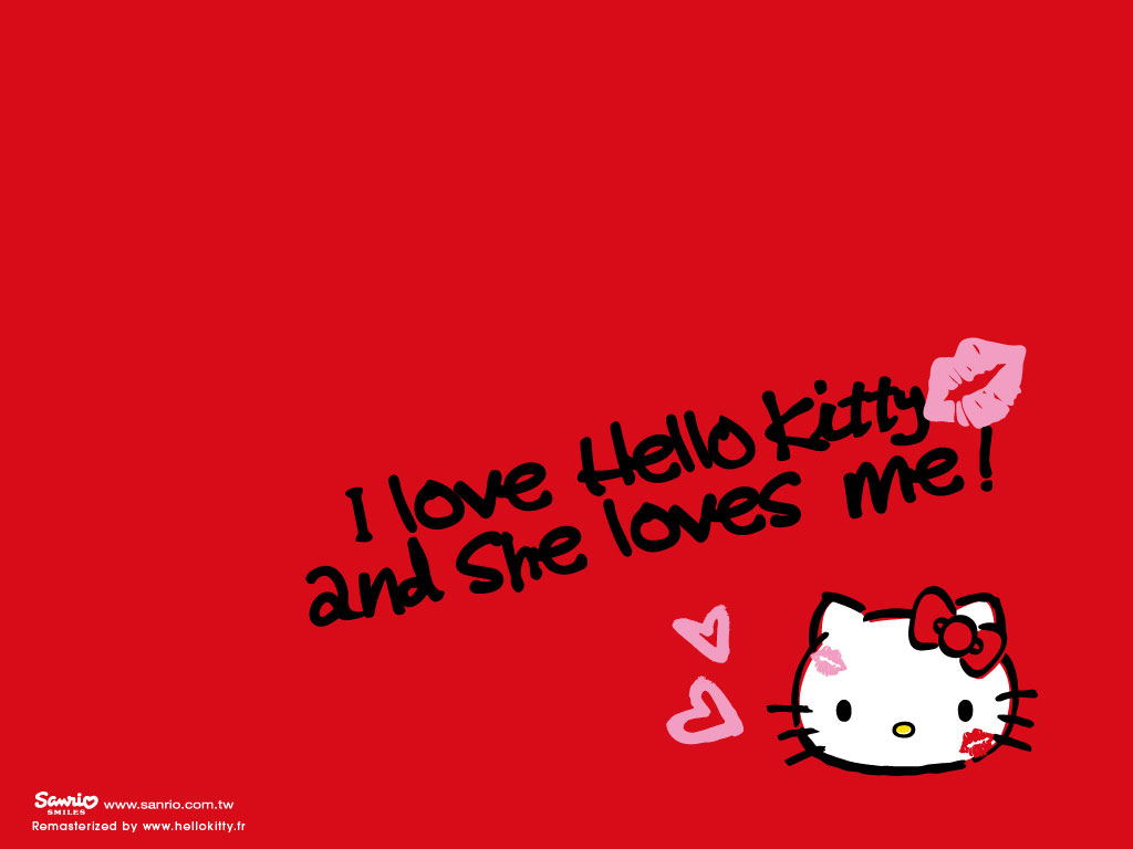 Red Hello Kitty Wallpaper