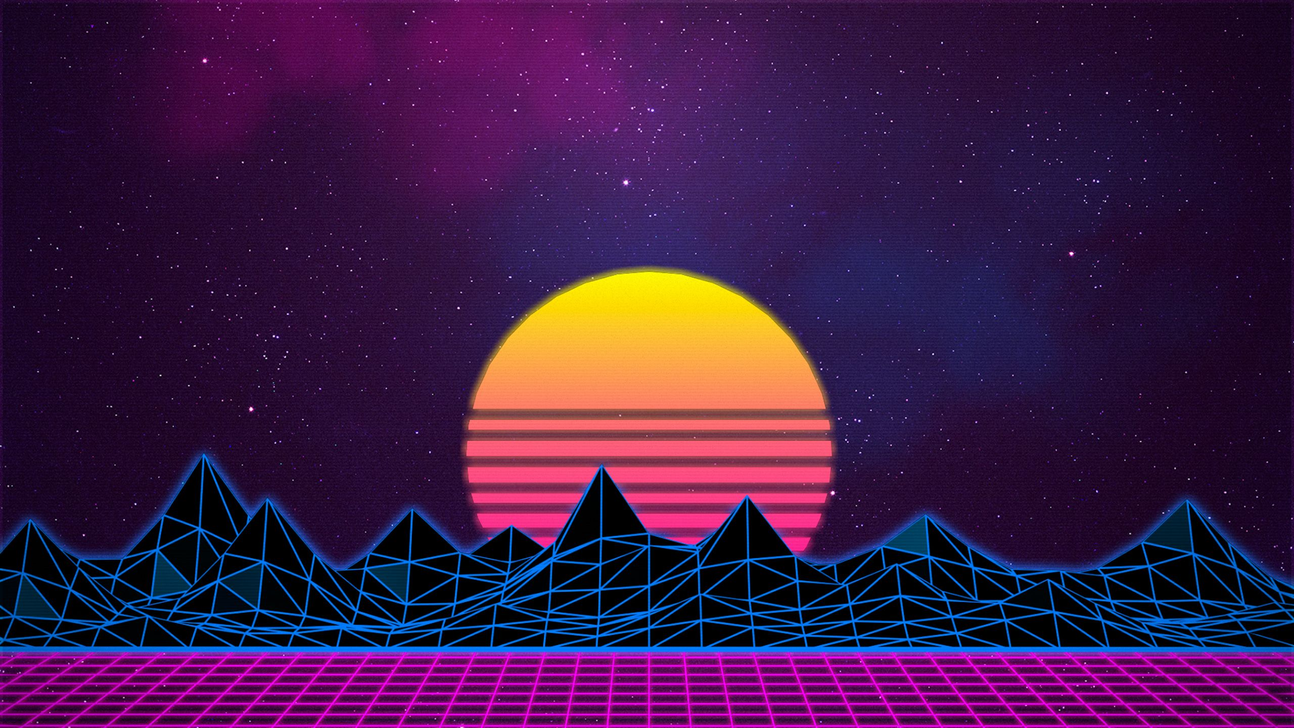 Retro Wave Wallpapers   Top Retro Wave Backgrounds 2560x1440