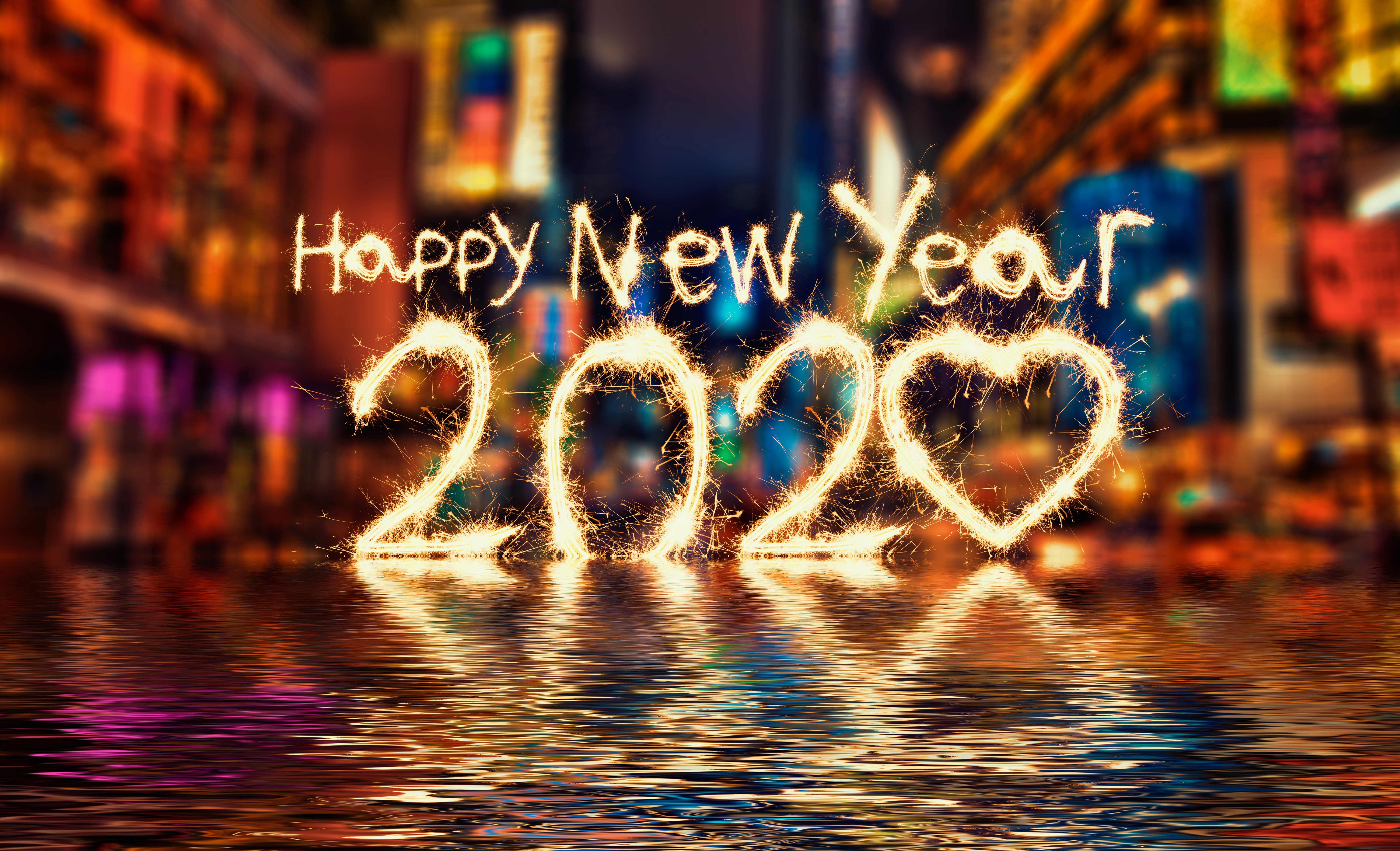 Colorful New Year Wallpaper 5k Retina Ultra HD Wallpaper 6000x3648