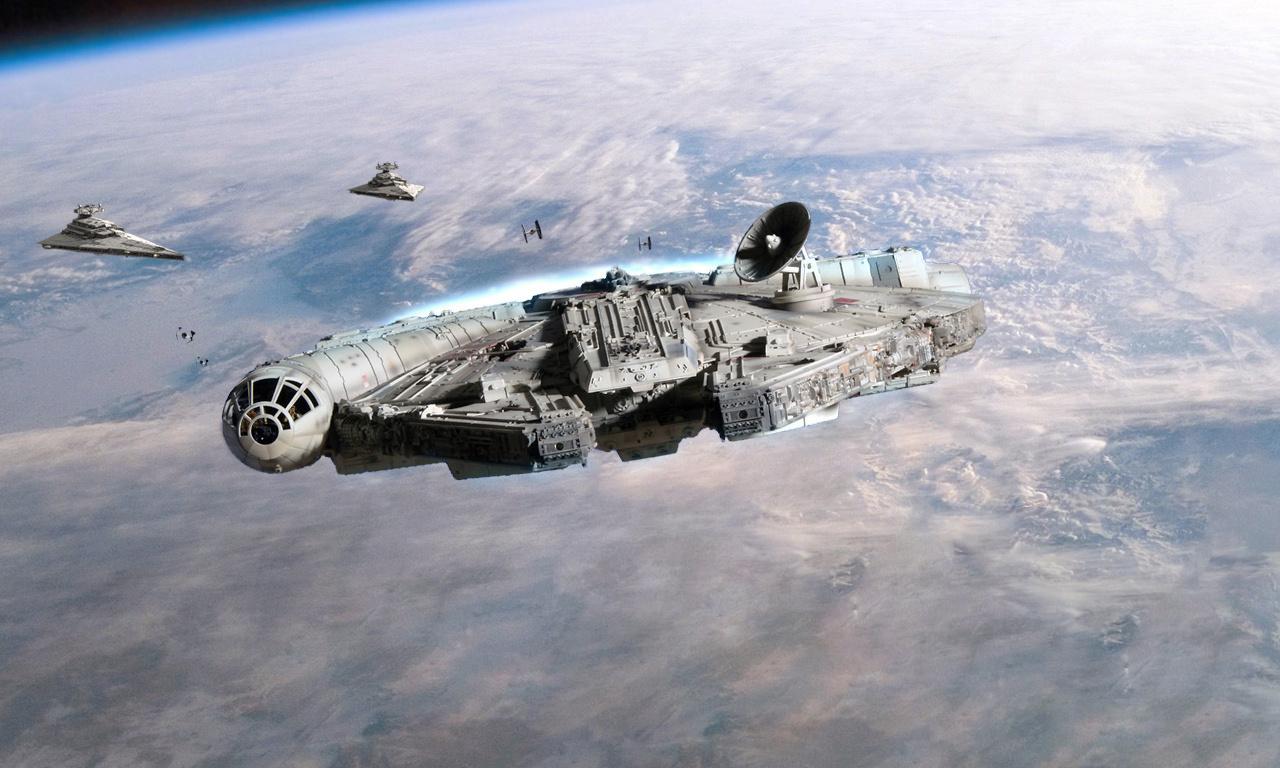 cran de Star Wars Star Wars Cruisers Empire Millennium Falcon 1280x768