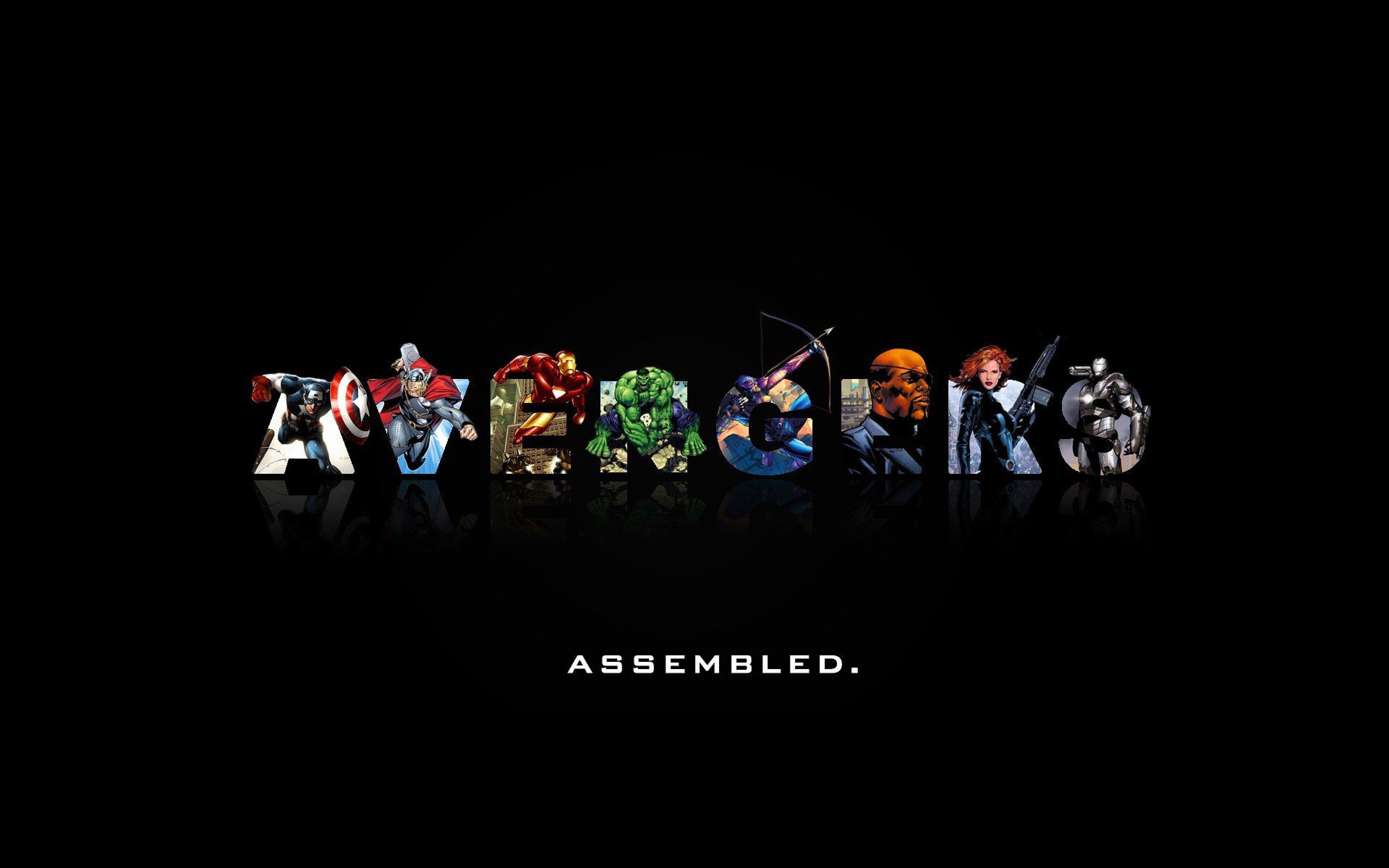 Download Wallpaper 3840x2400 Marvel comics The avengers Minimalism 3840x2400